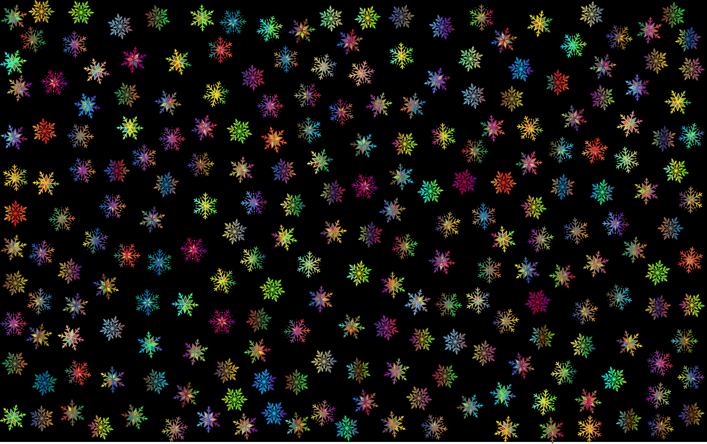 Prismatic Snowflakes Pattern 3 by GDJ