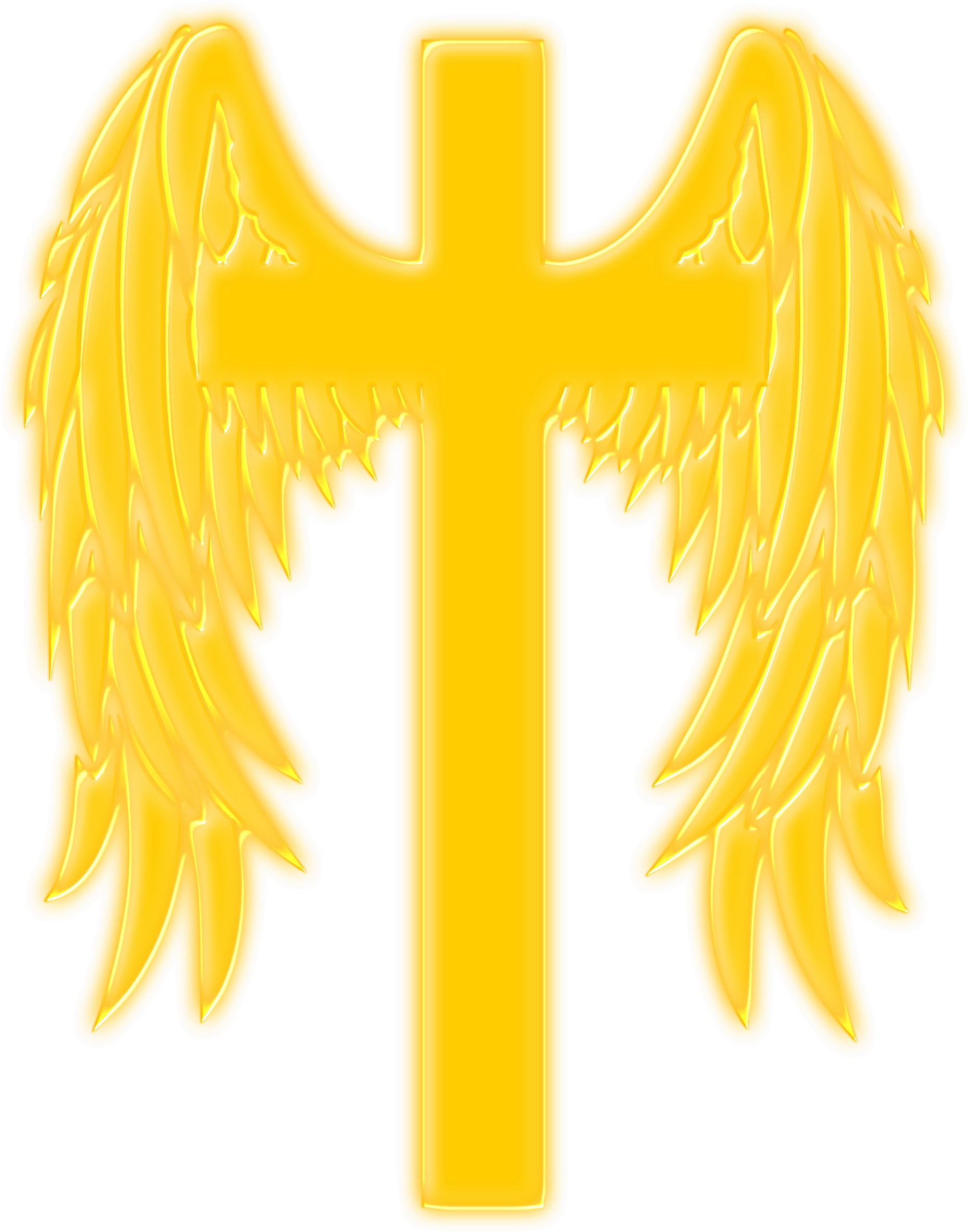 Winged cross by Firkin