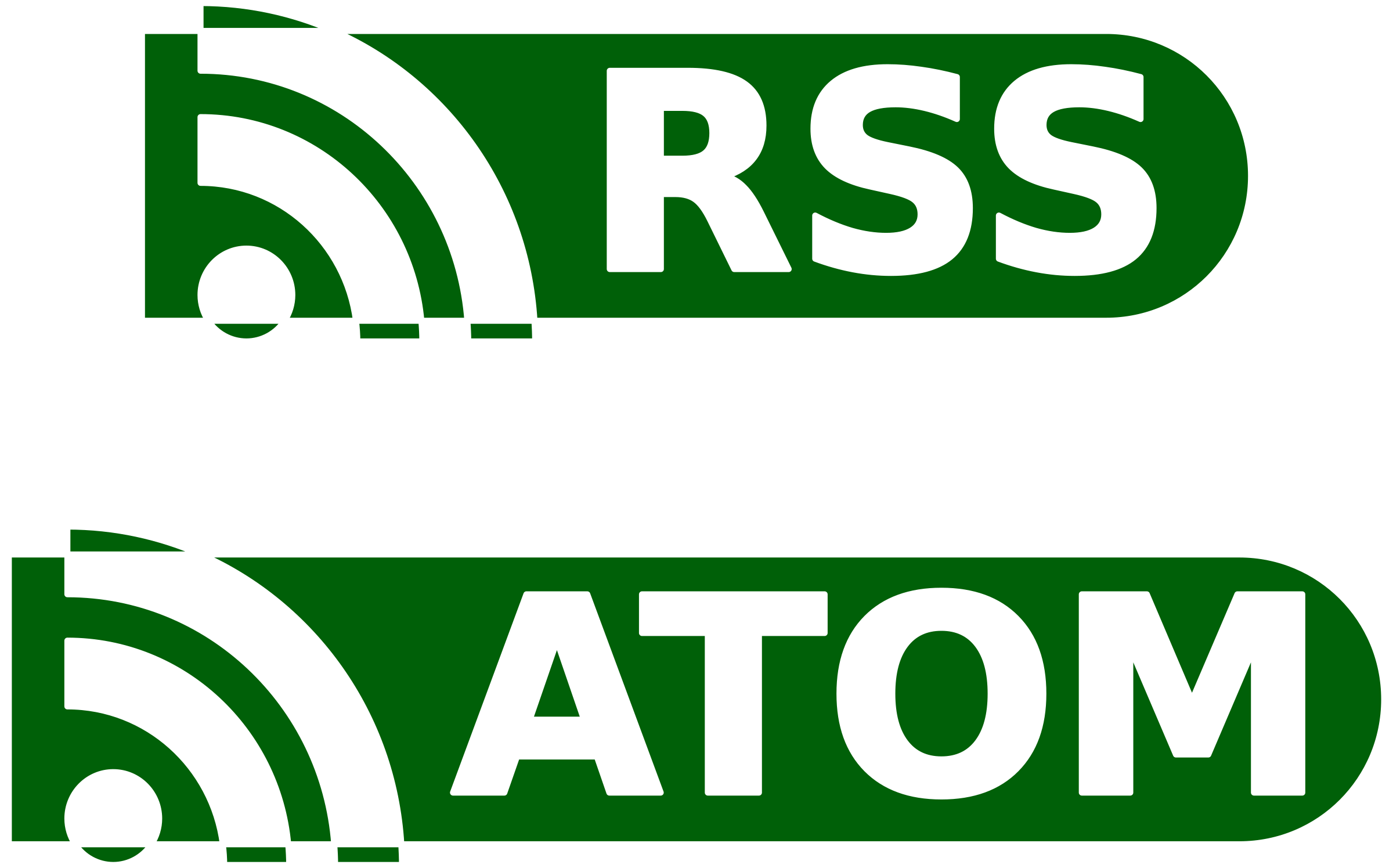 RSS / ATOM buttons by ozroc
