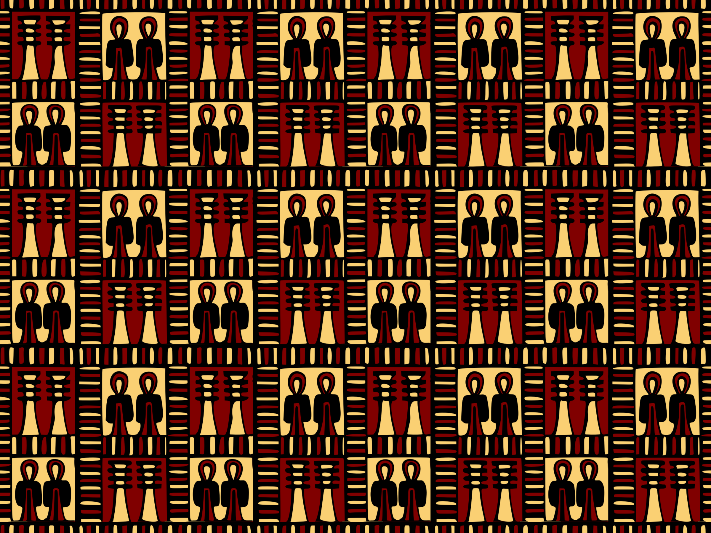 Egyptian pattern (colour) by Firkin