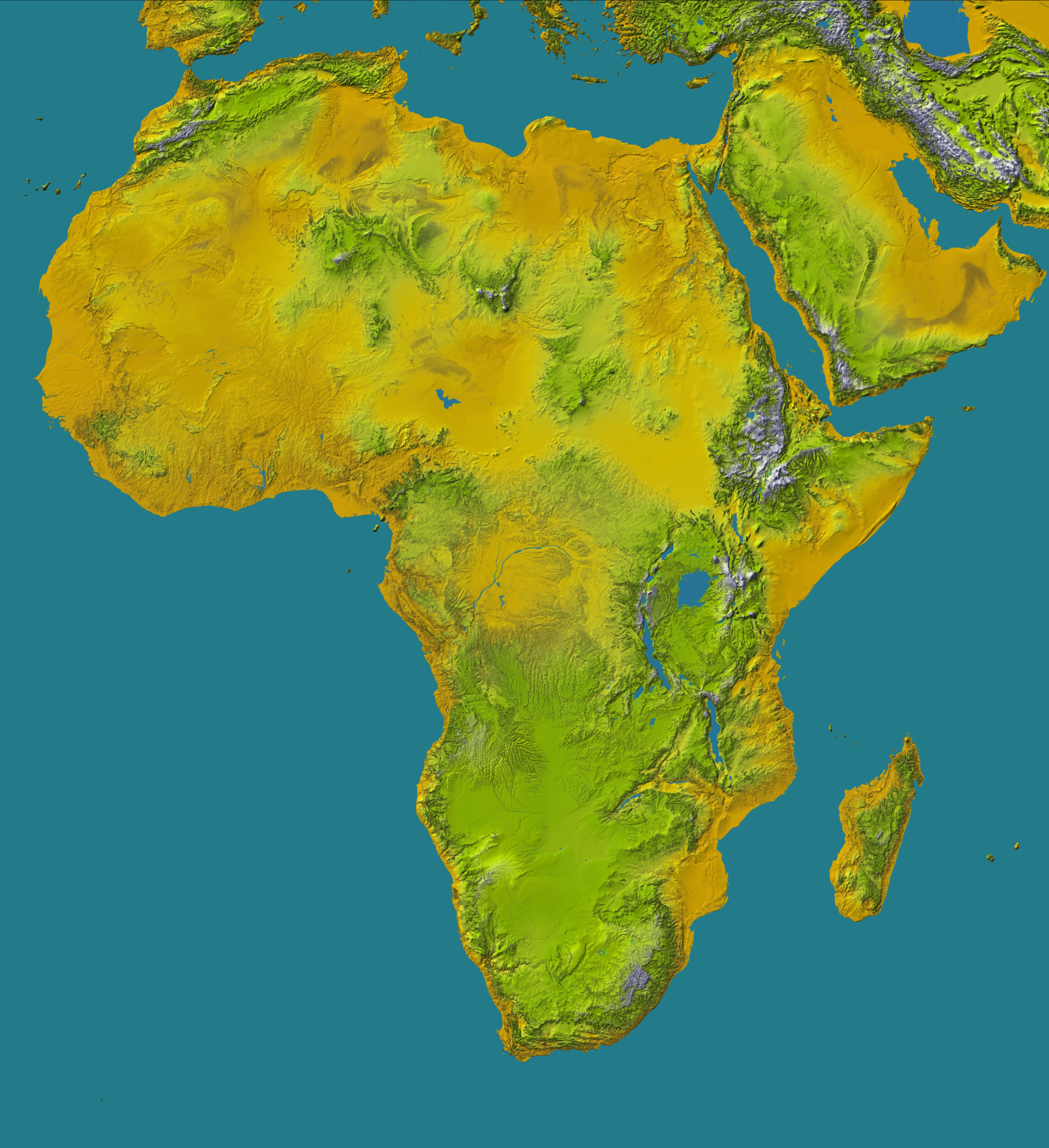 Africa topology (detailed) by Firkin
