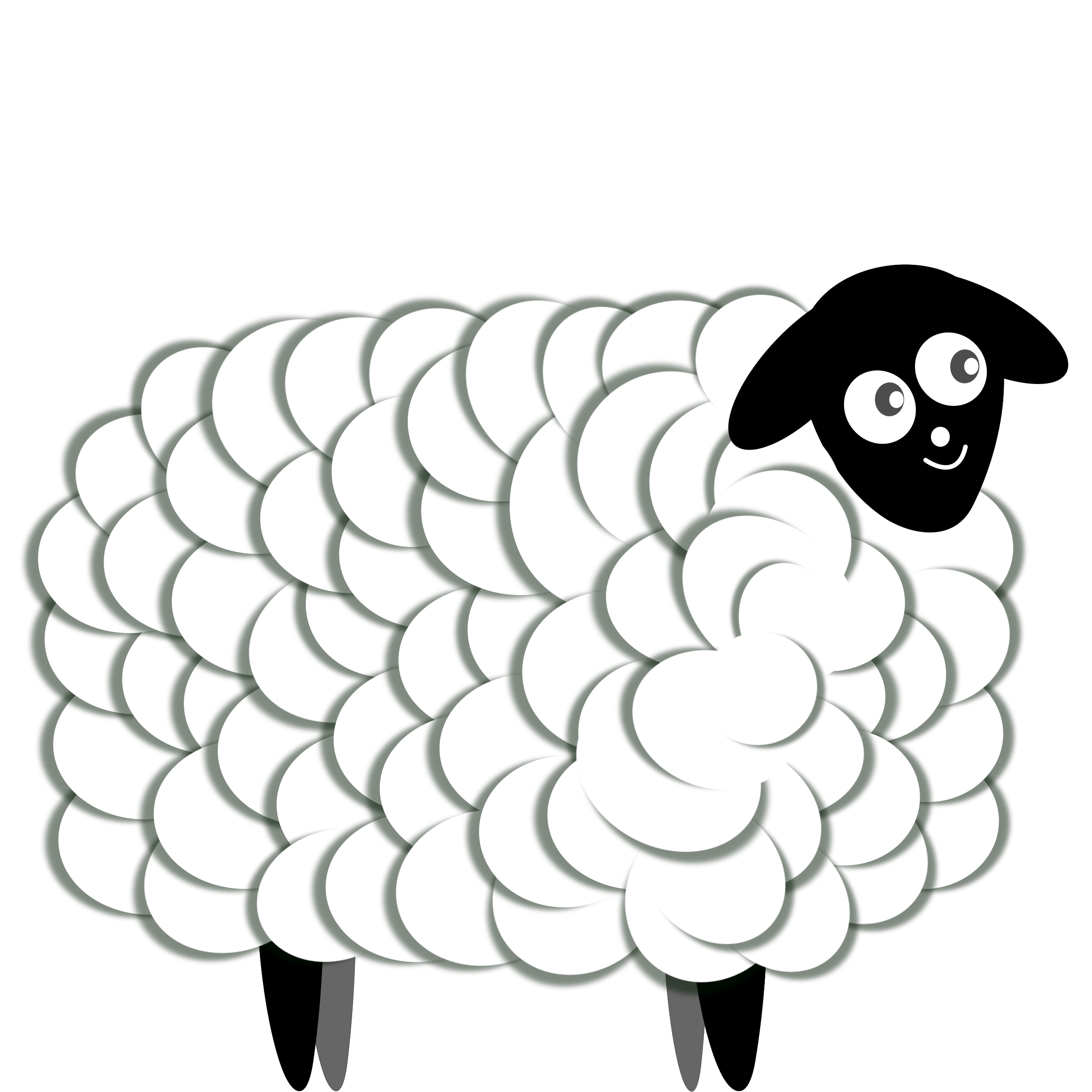 Fluffy Sheep, two color by oldifluff
