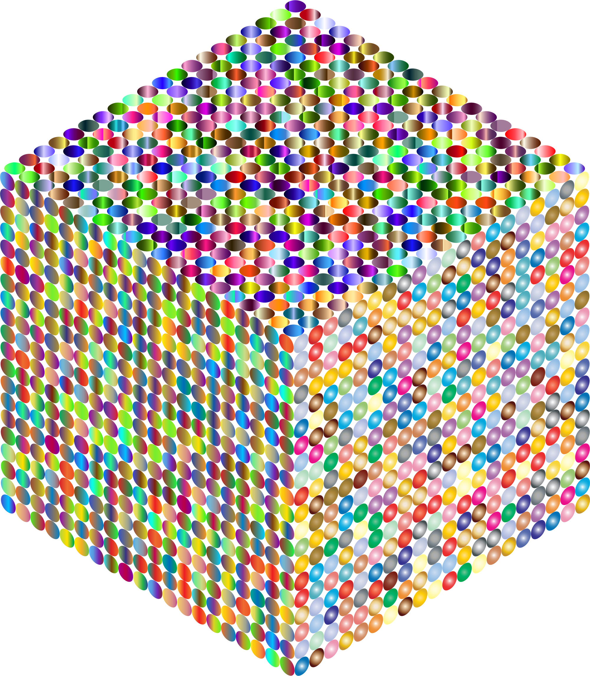 Prismatic Isometric Circles Cube by GDJ