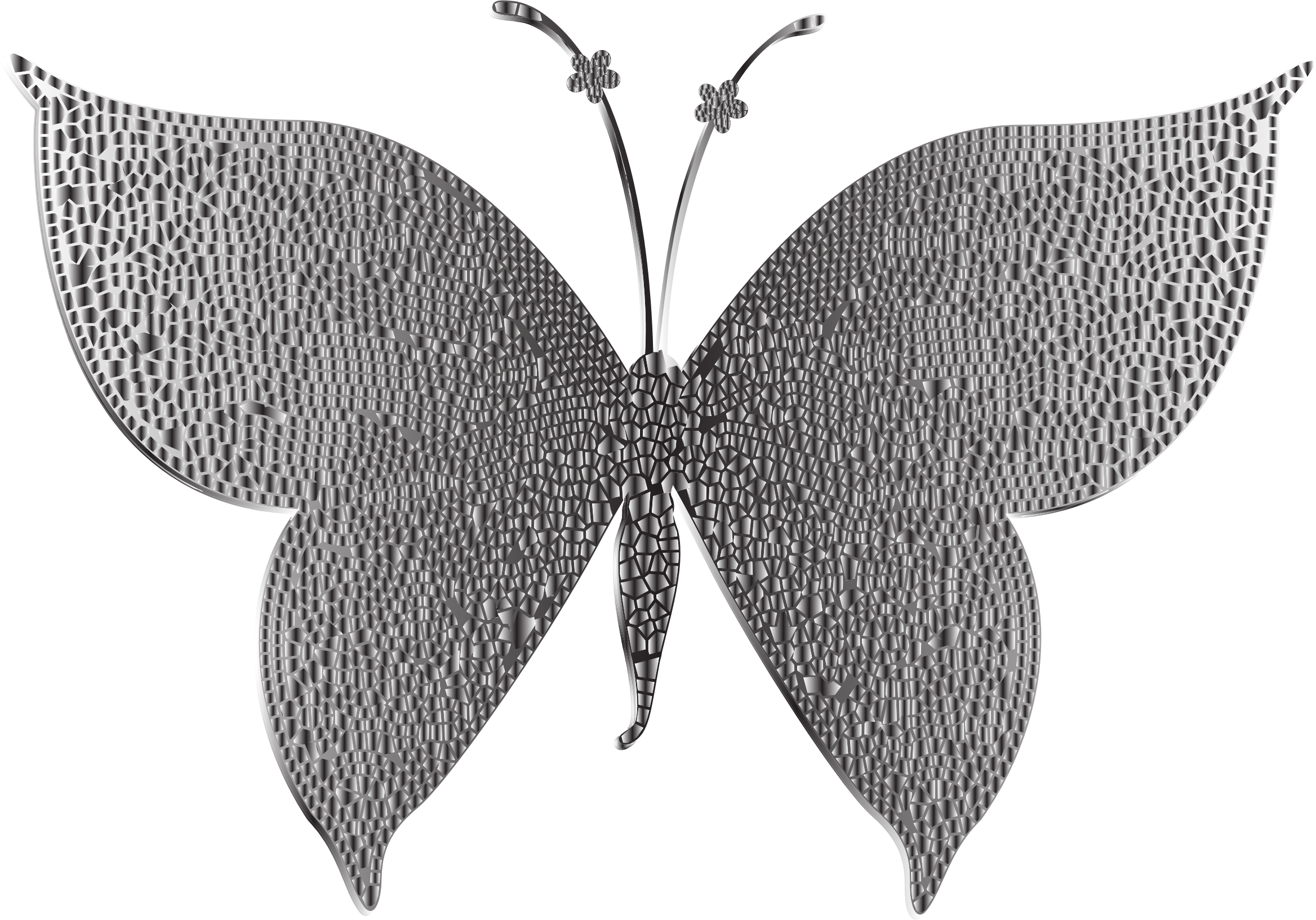 Monochromatic Tiled Butterfly 2 by GDJ
