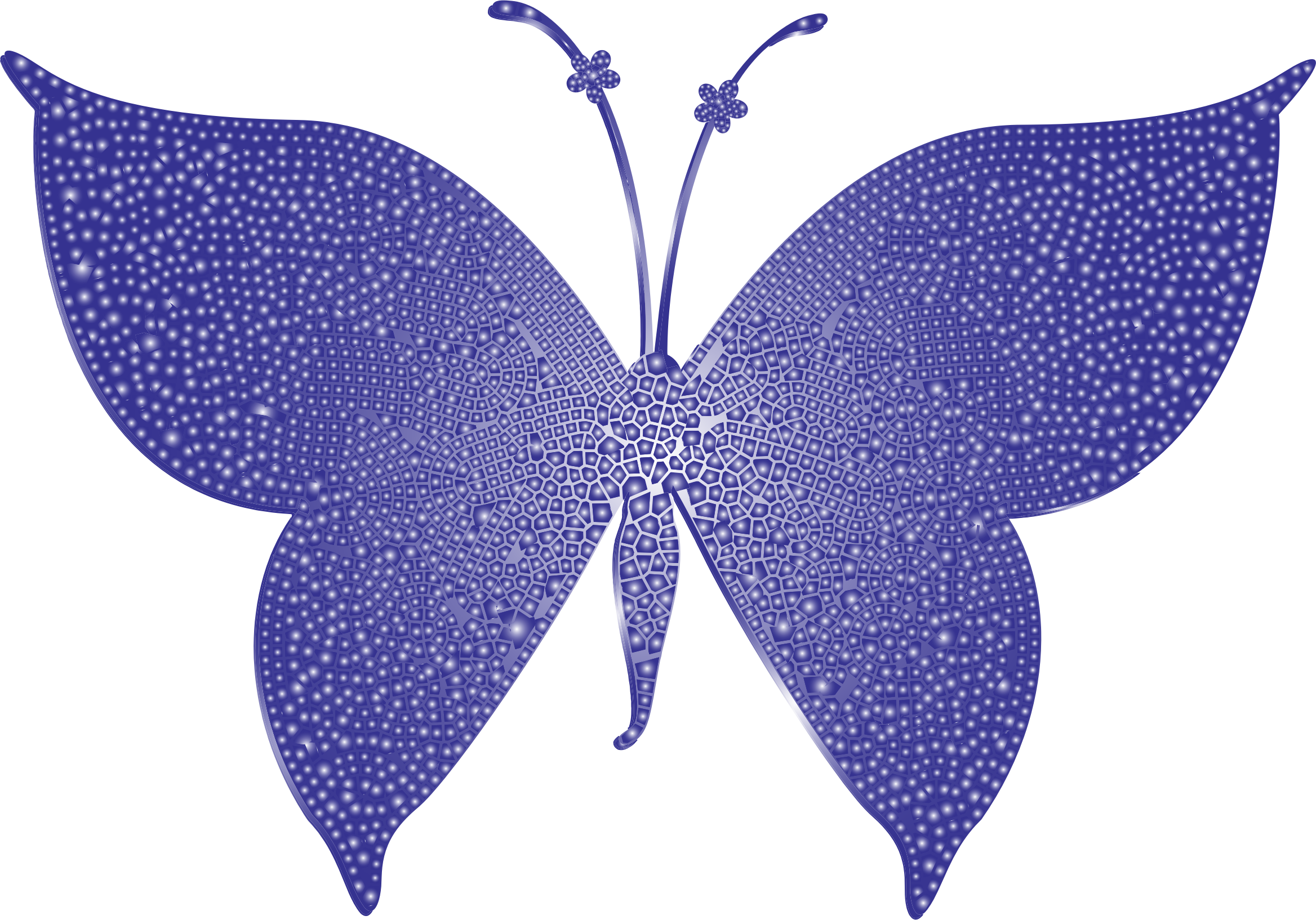 Violet Tiled Butterfly by GDJ