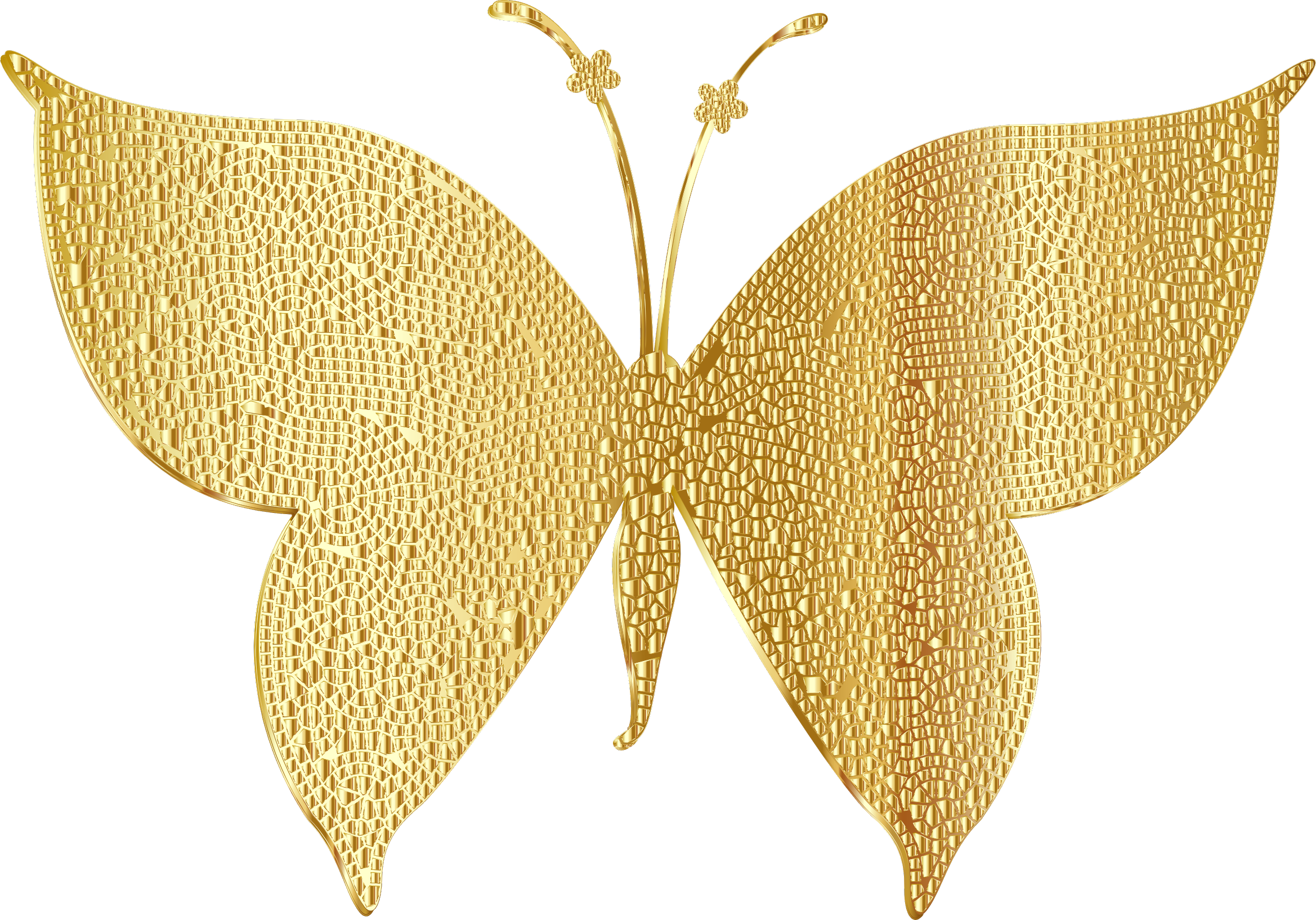 Gold Tiled Butterfly by GDJ