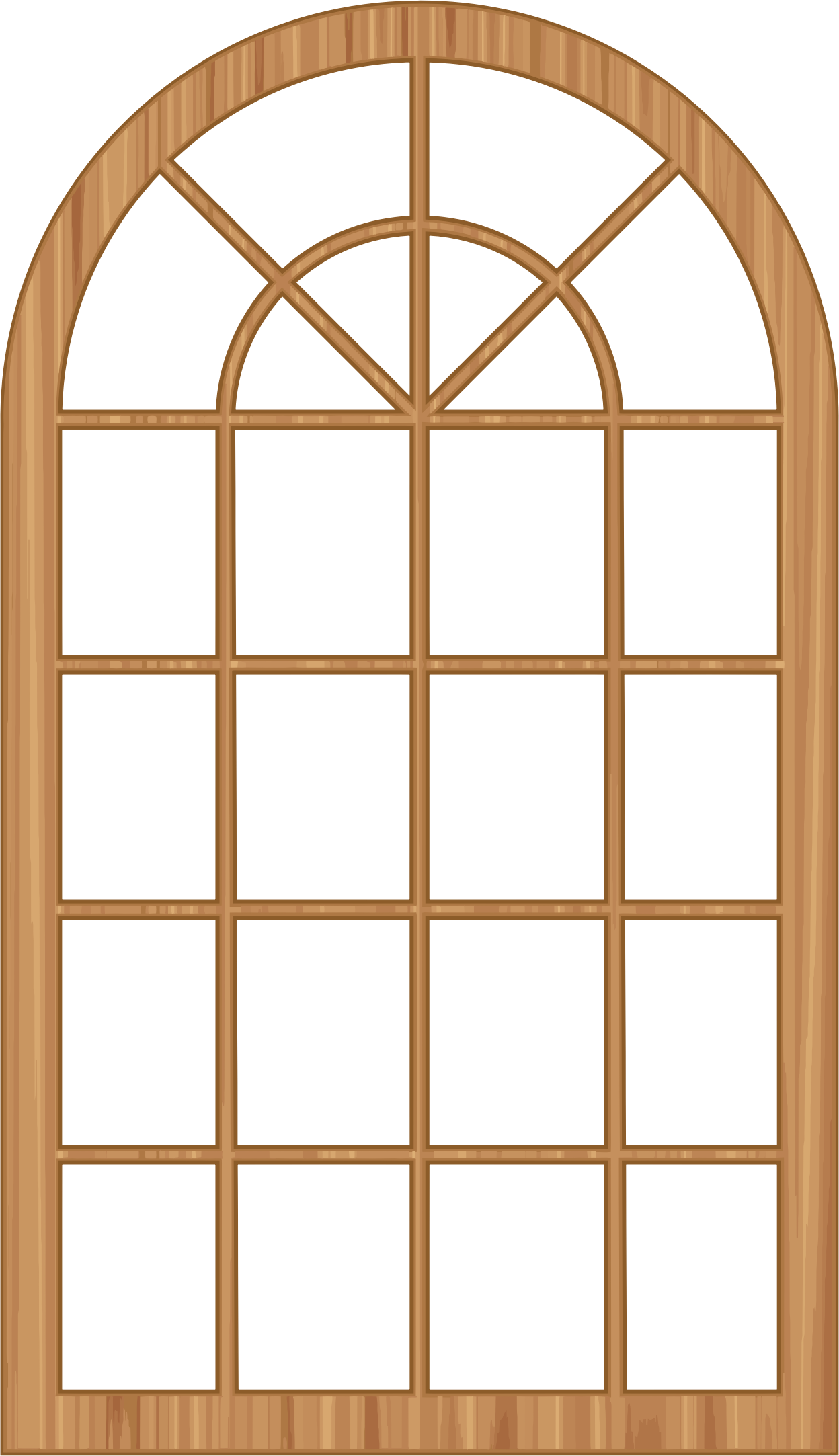 Clipart - Wooden Window Frame