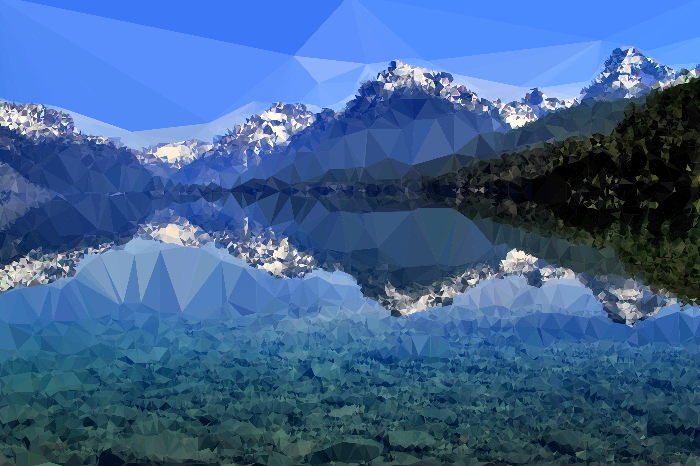 Low Poly Lake McDonald by GDJ
