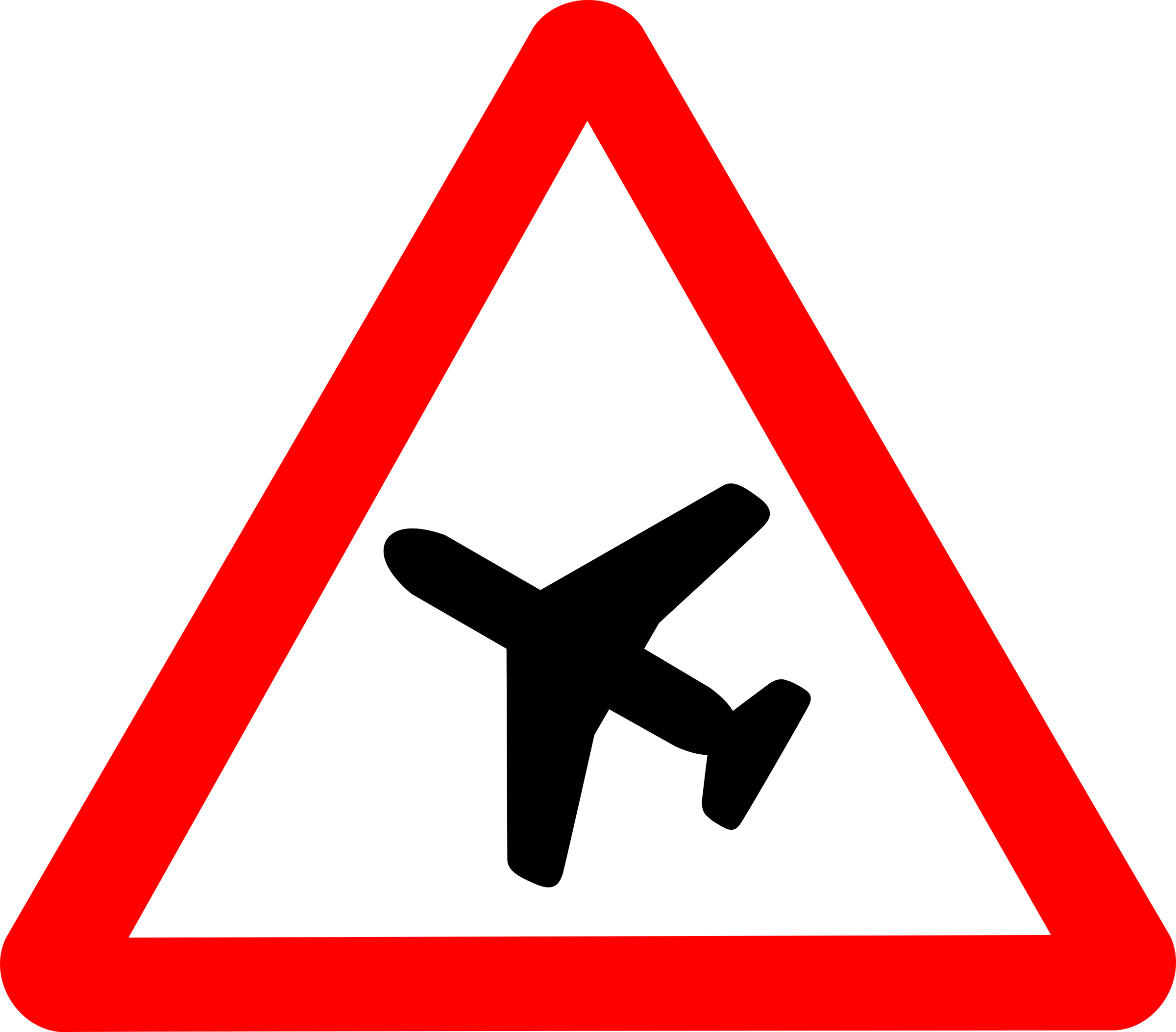 Roadsign Aiplane by Simarilius
