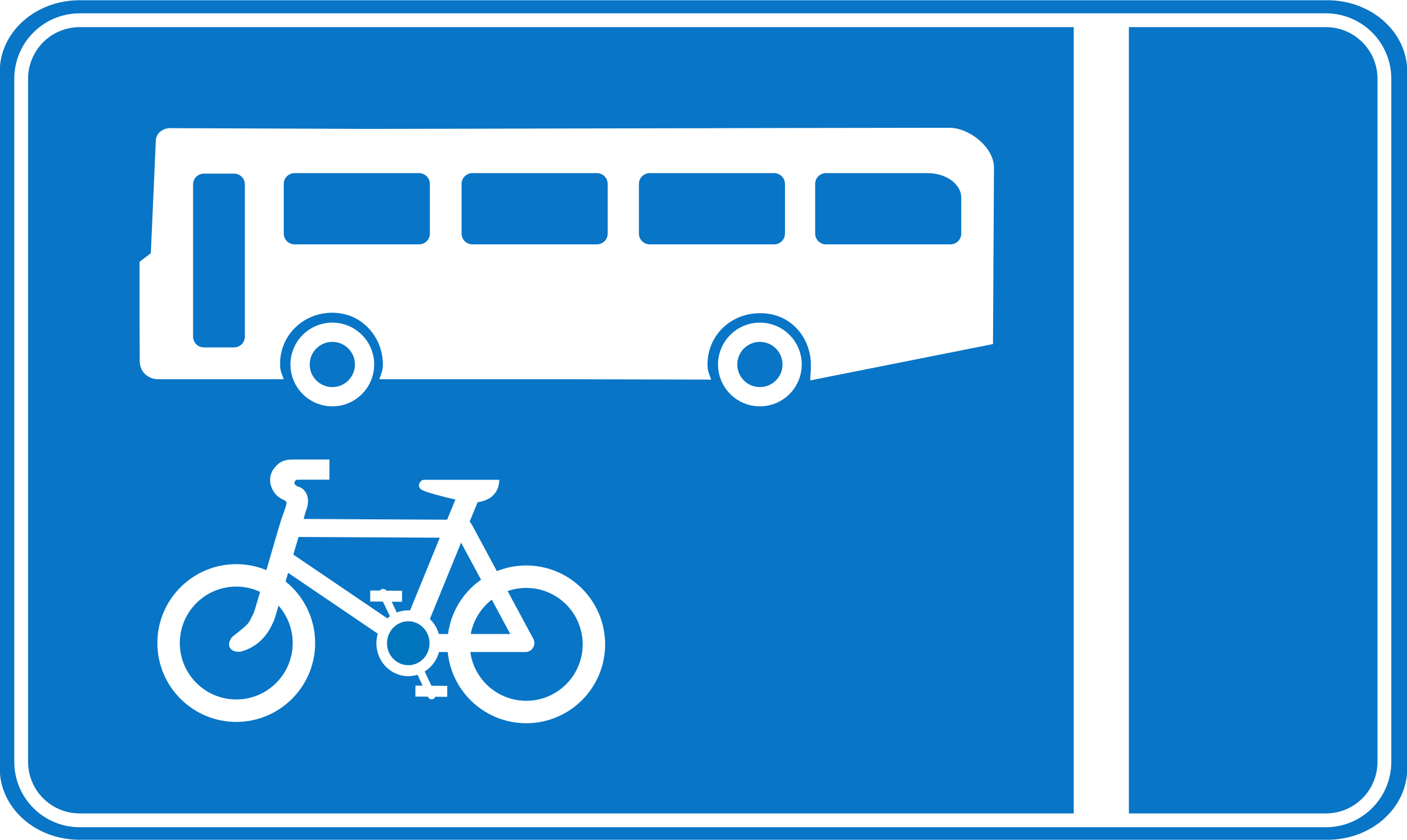 Roadsign Bus lane by Simarilius