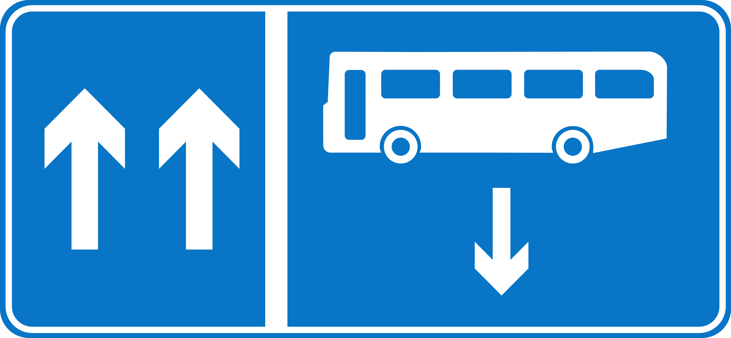 Roadsign Bus opposite by Simarilius