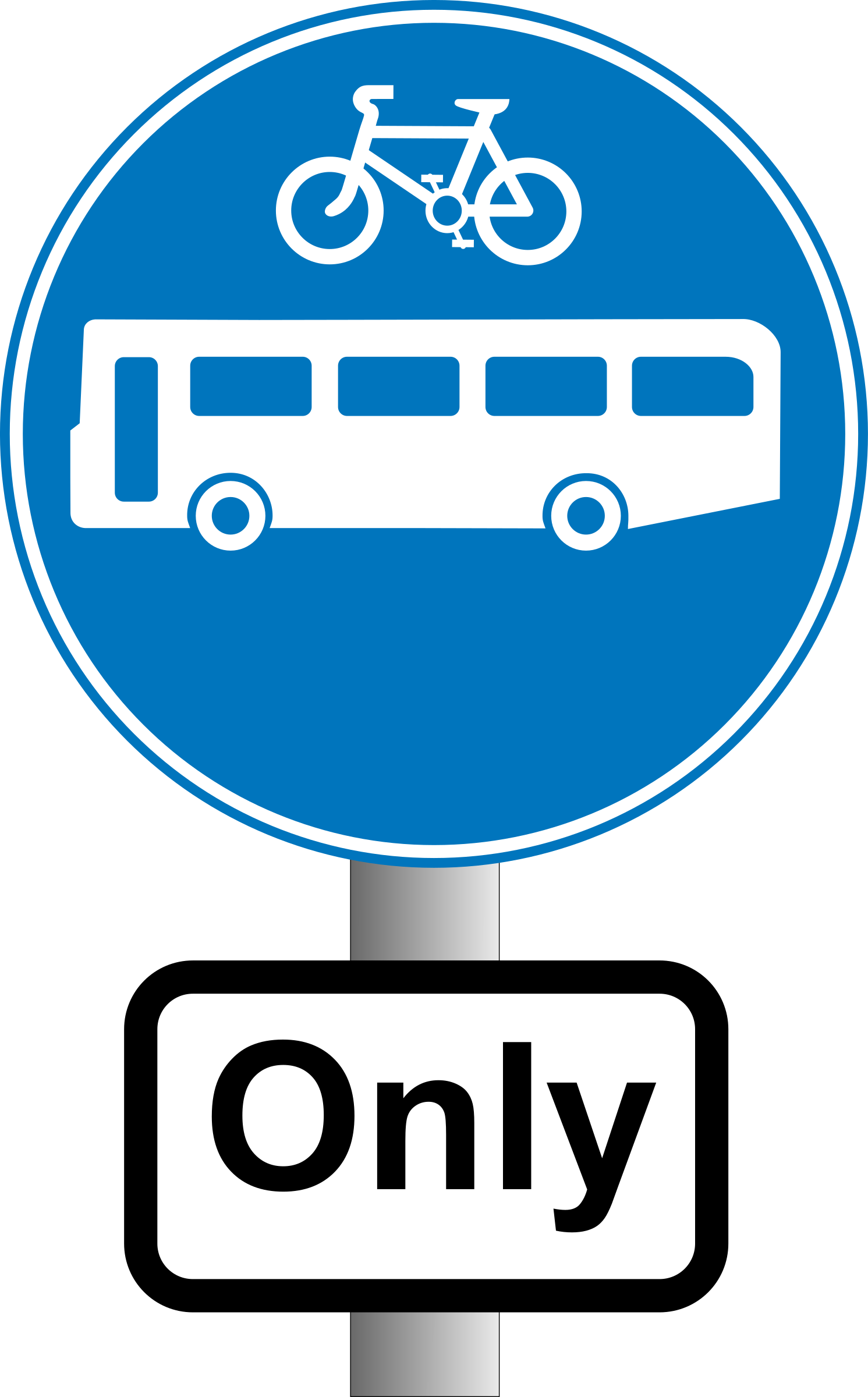 Roadsign Buses and bikes by Simarilius