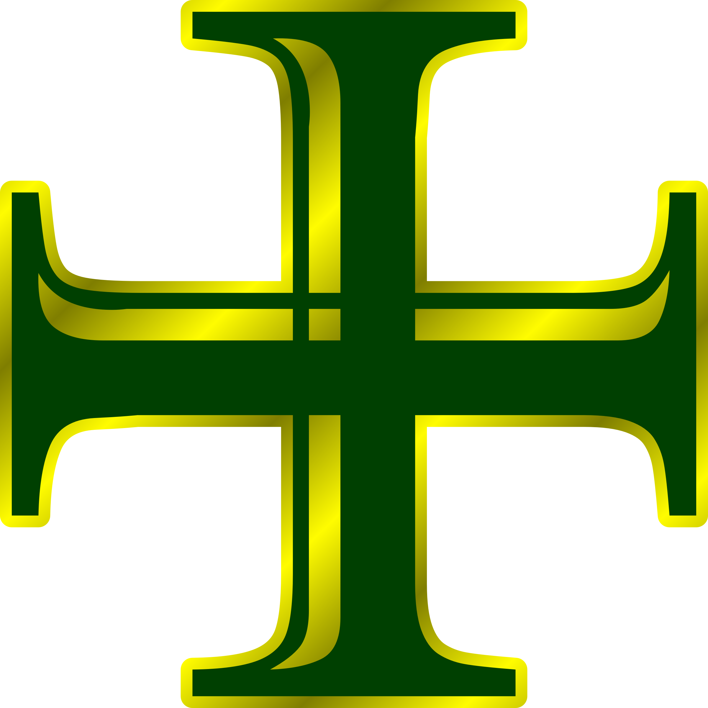 Green and Gold Cross by PhilipBarrington