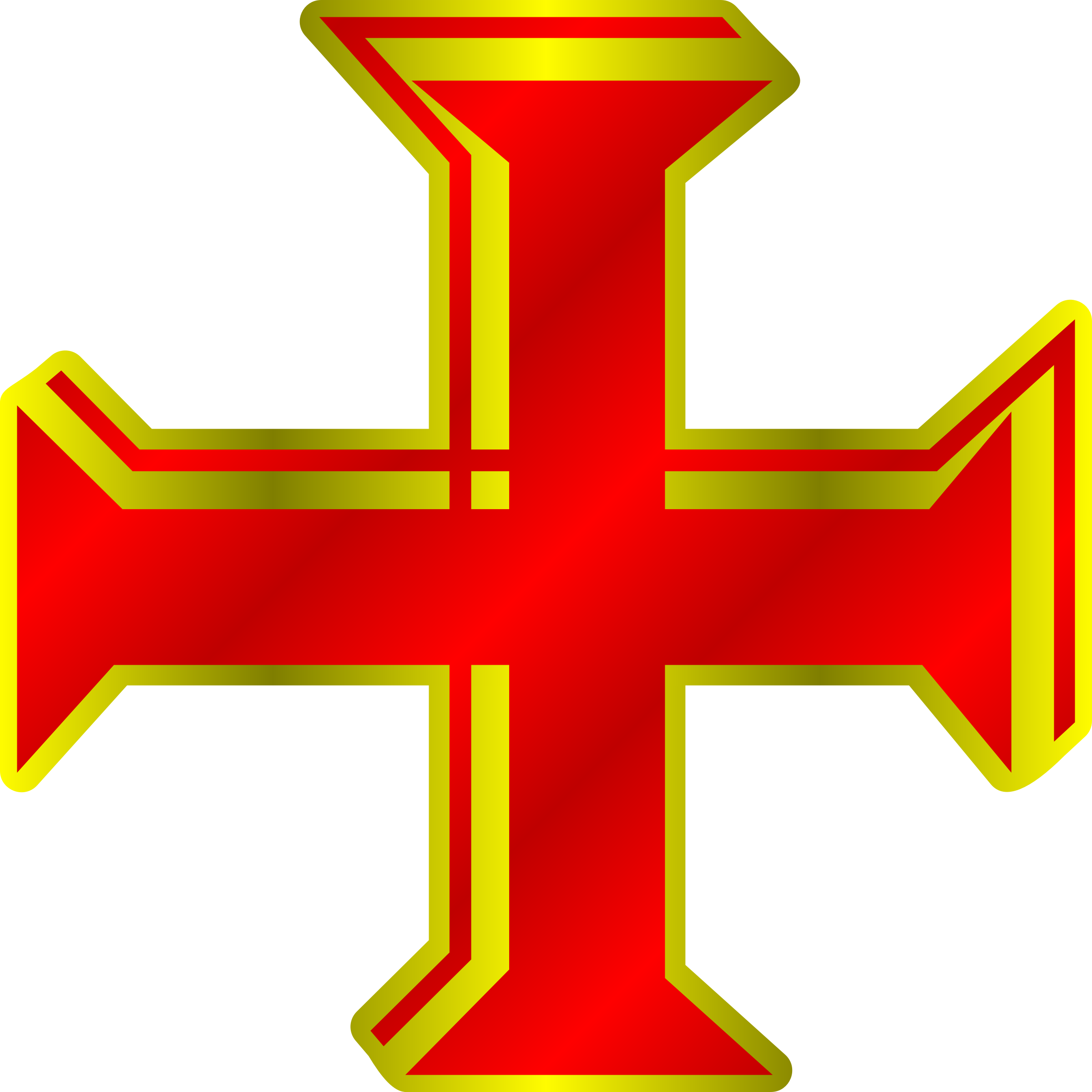 Red and Gold Cross by PhilipBarrington