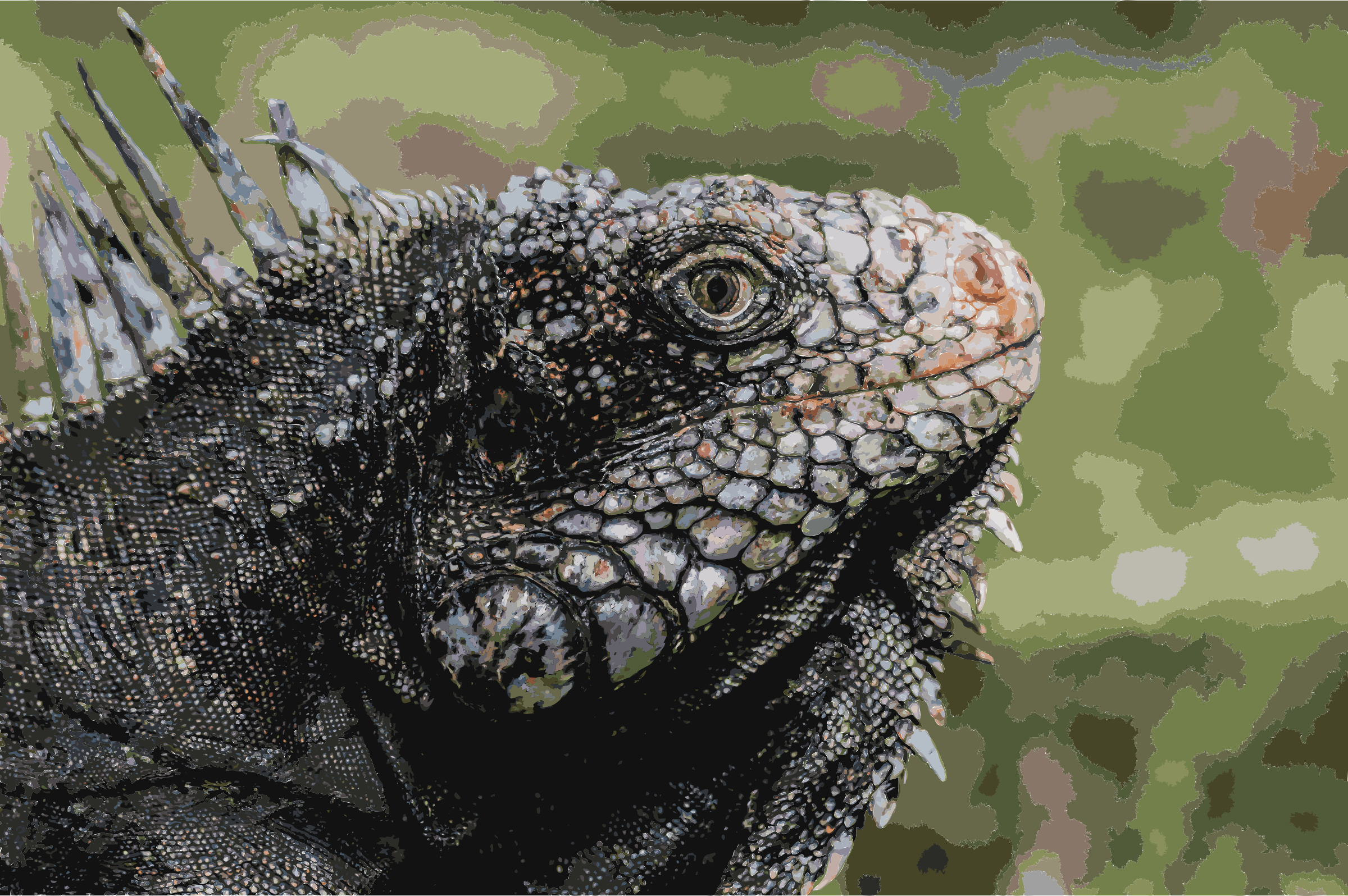 Iguanidae head from Venezuela by 5mee4d+cgehjn4ybt98o