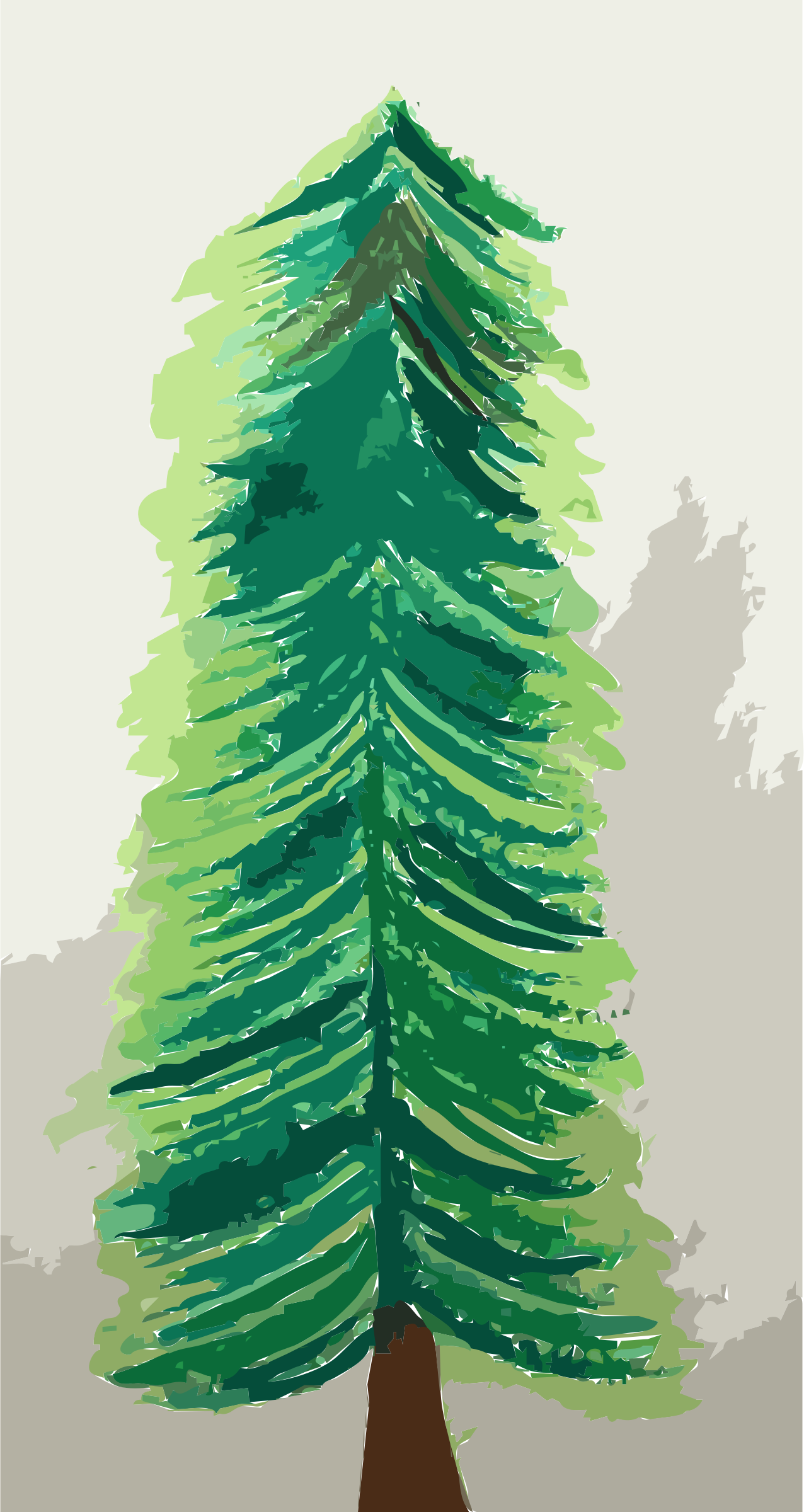 Painted Christmas Tree, untraced Vectorized by 5mvcfy+25epcyzr54tu0