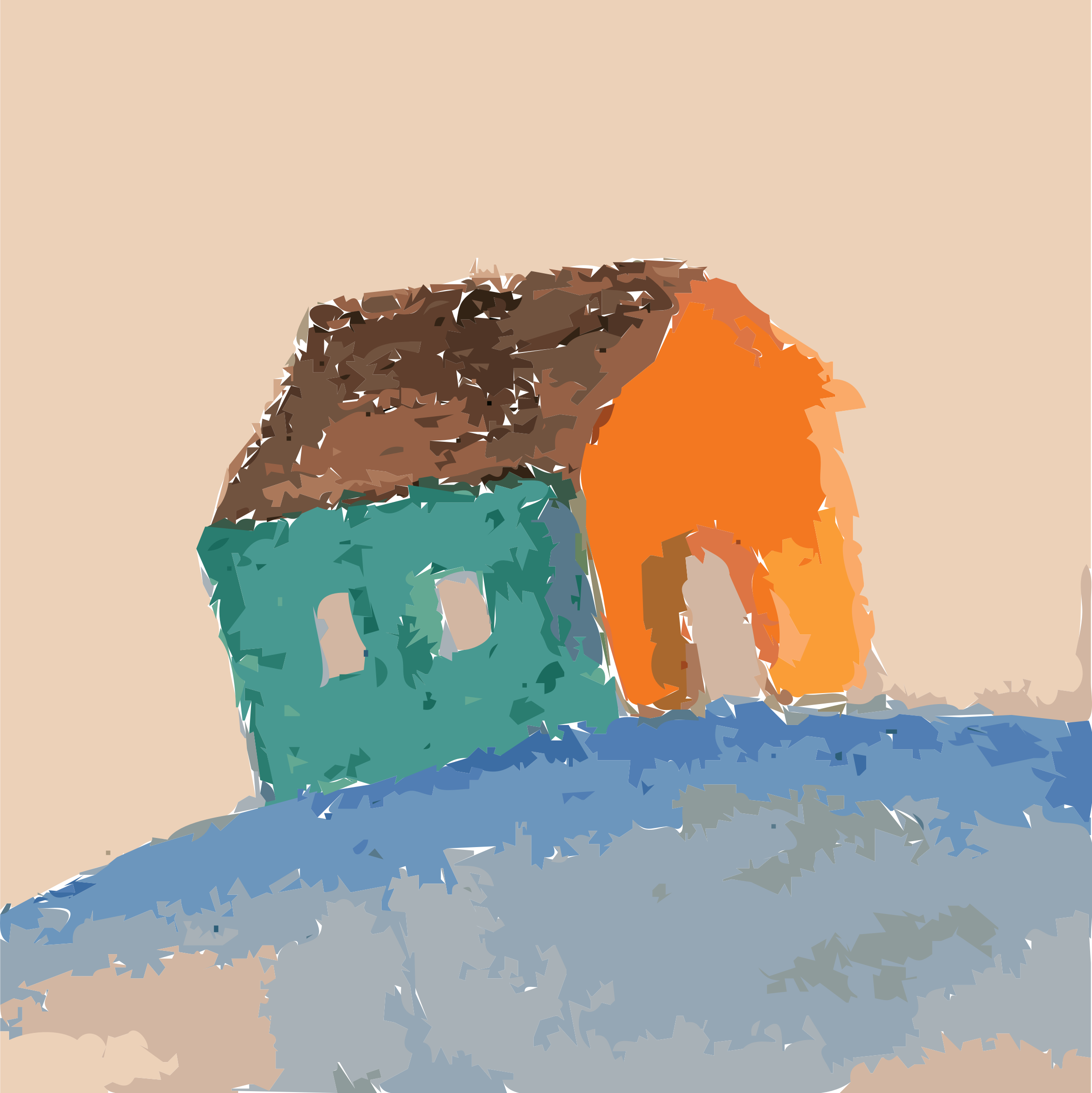 Painted Small Home (untraced) Vectorized by 5mvcfy+25epcyzr54tu0