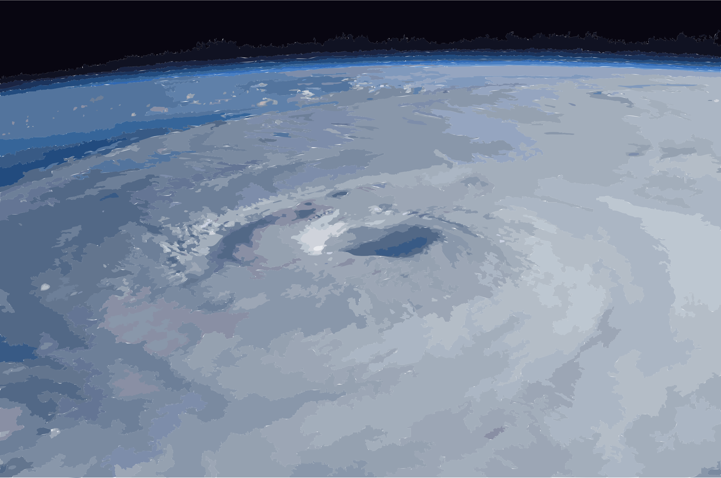 Hurricane Isabel from ISS by 5mxax3+4sizrcp4eekco