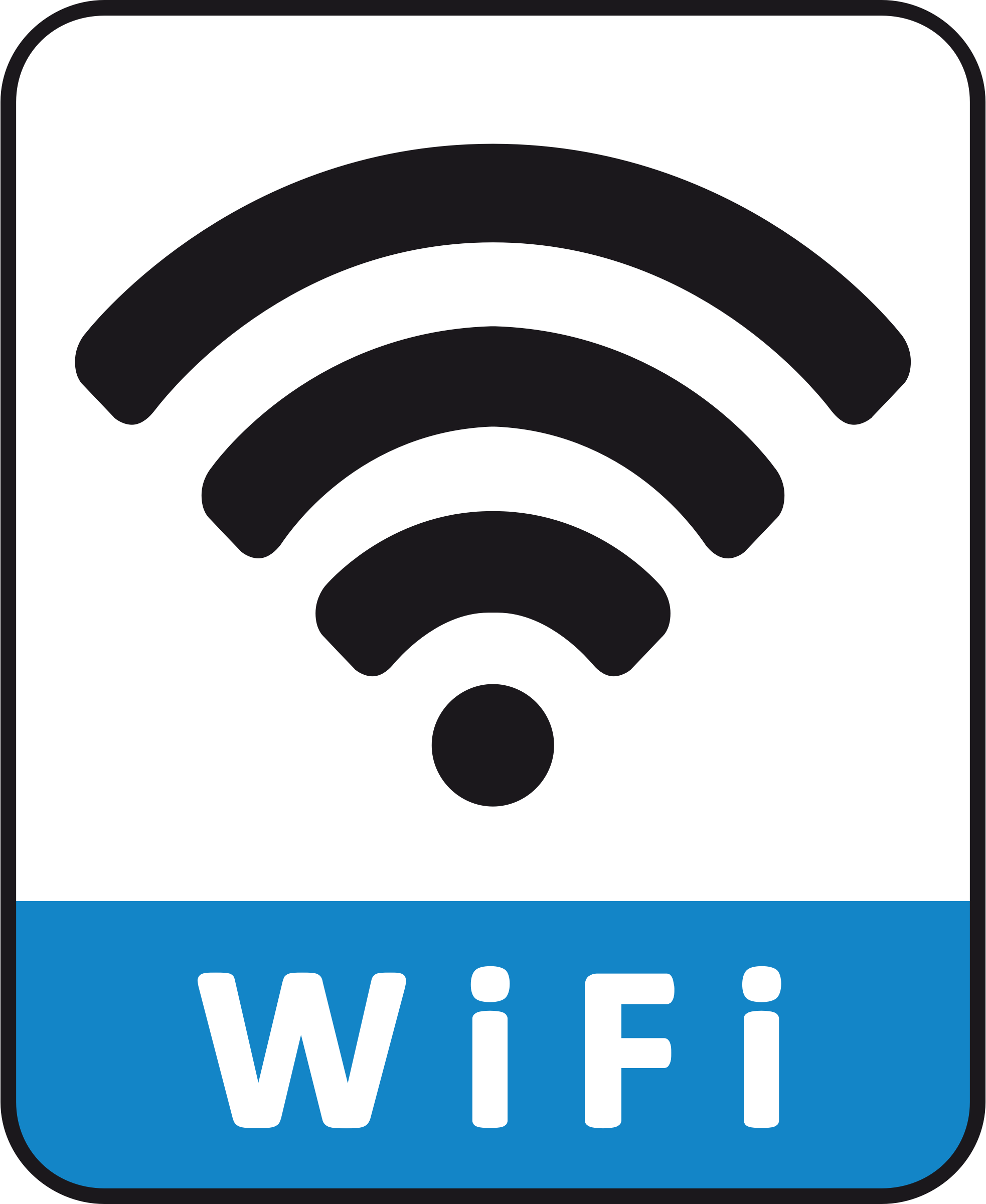 WiFi Connection Pictograph by HuongDesign
