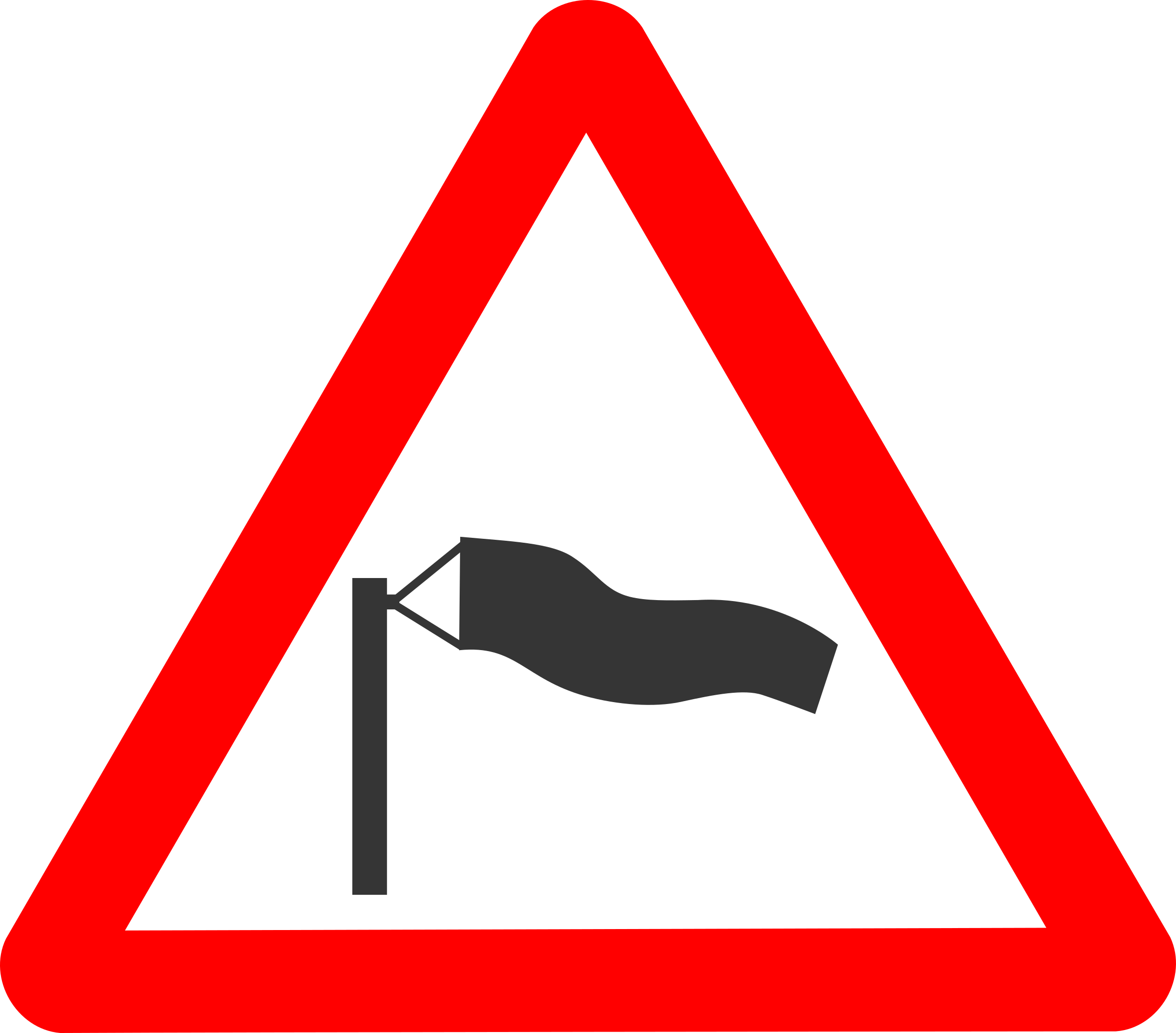 Roadsign Crosswind by Simarilius
