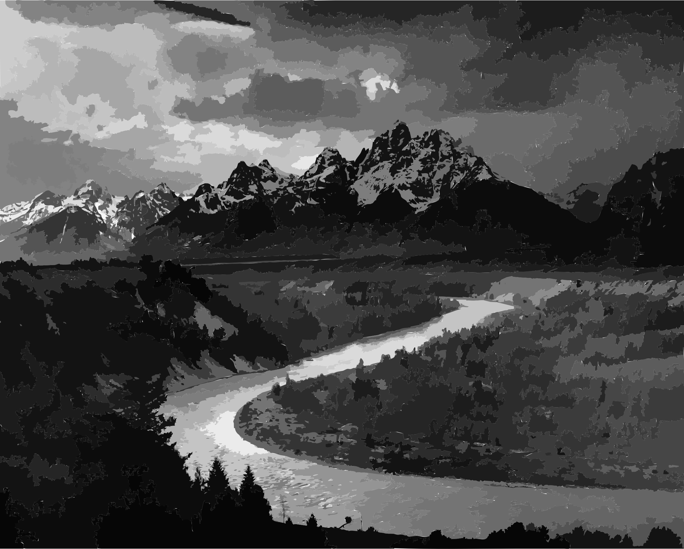 Adams The Tetons and the Snake River by 5n7epj+9741chlinrj78
