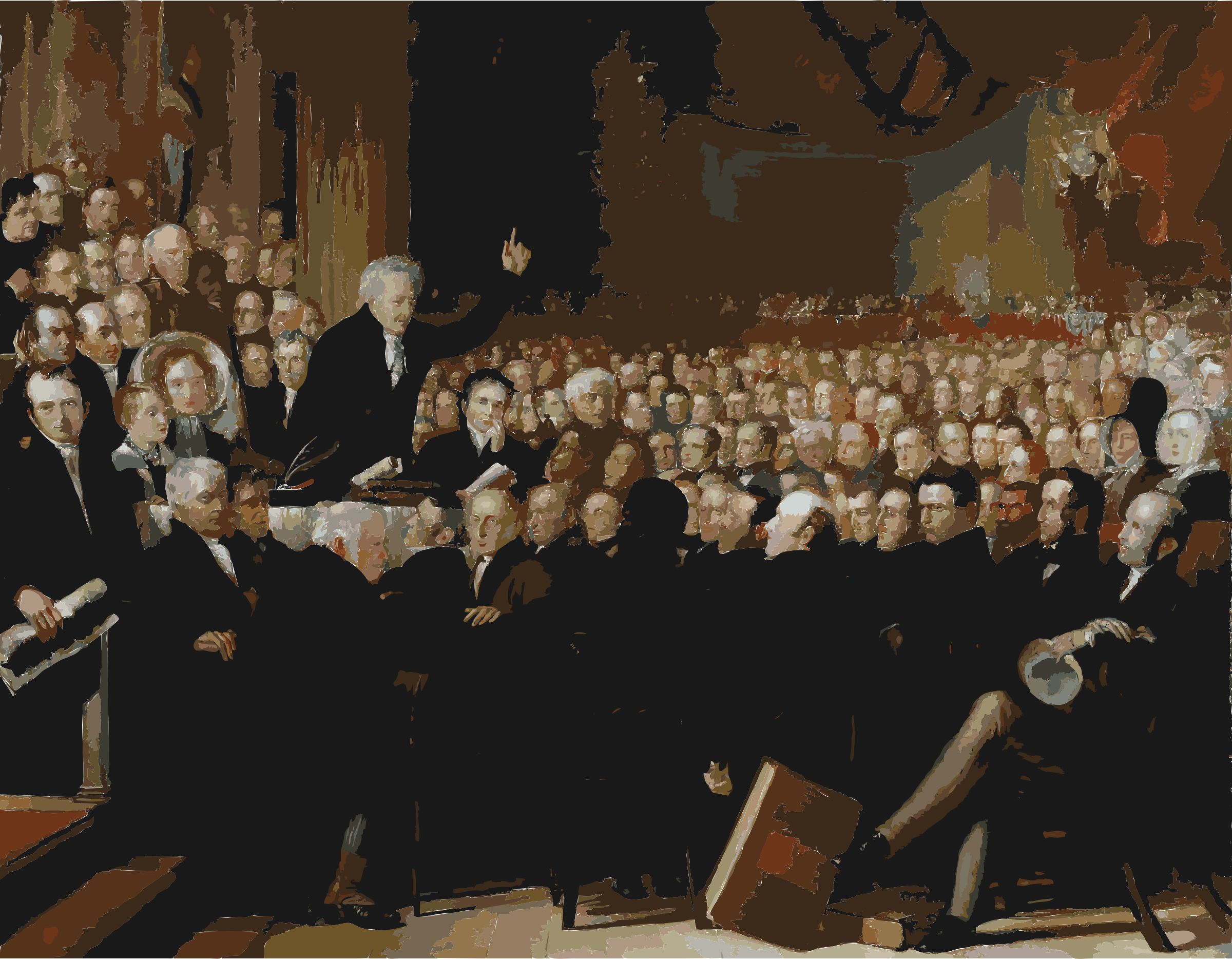 The Anti-Slavery Society Convention, 1840 by Benjamin Robert Haydon by 5n8ag4+endyauppxpaas