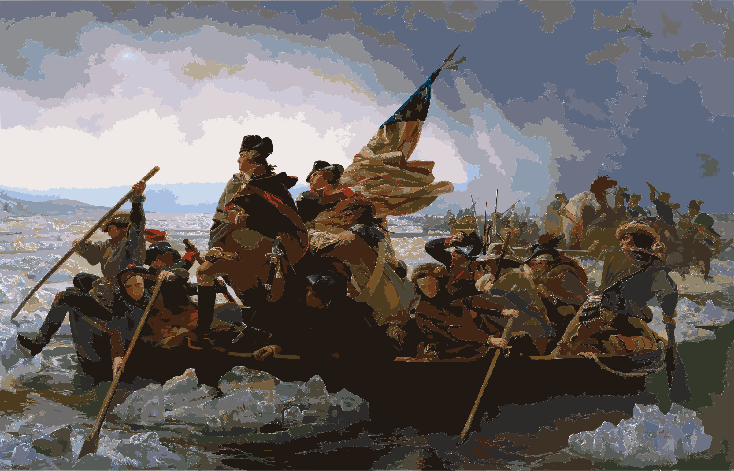 Washington Crossing the Delaware by Emanuel Leutze, MMA-NYC, 1851 by 5n9sst+earkddiows40g
