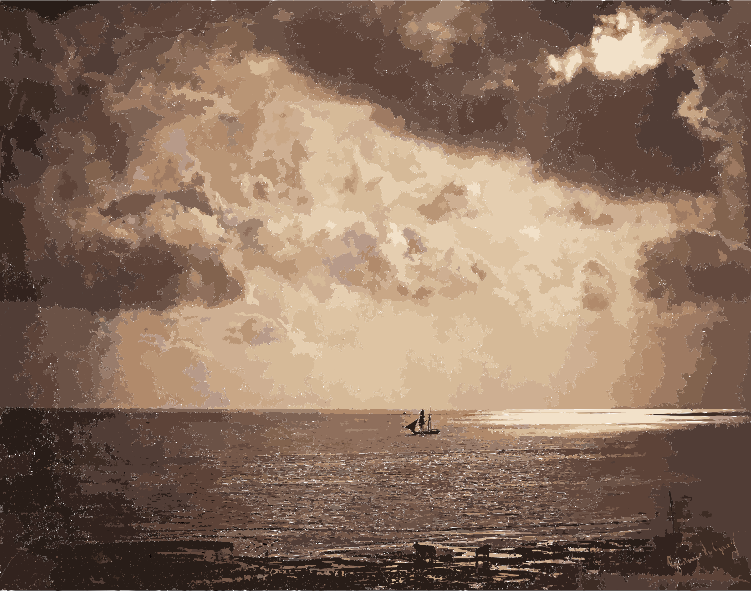 Gustave Le Gray - Brig upon the Water - Google Art Project by 5n9sst+earkddiows40g