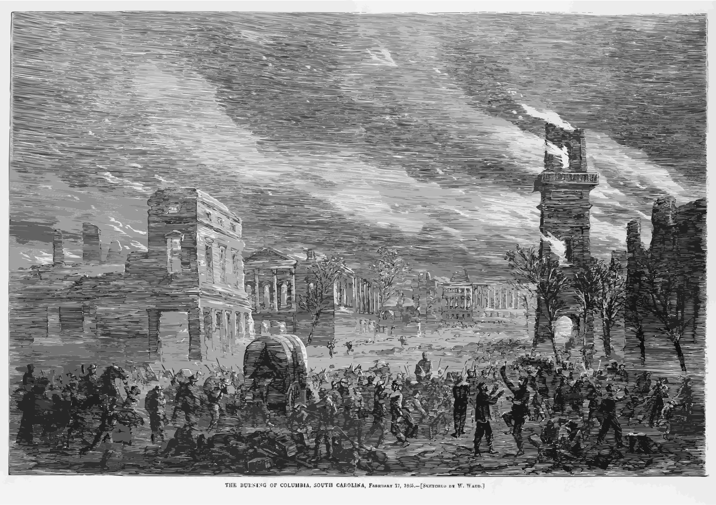 The burning of Columbia, South Carolina, February 17, 1865 by 5n9sst+earkddiows40g