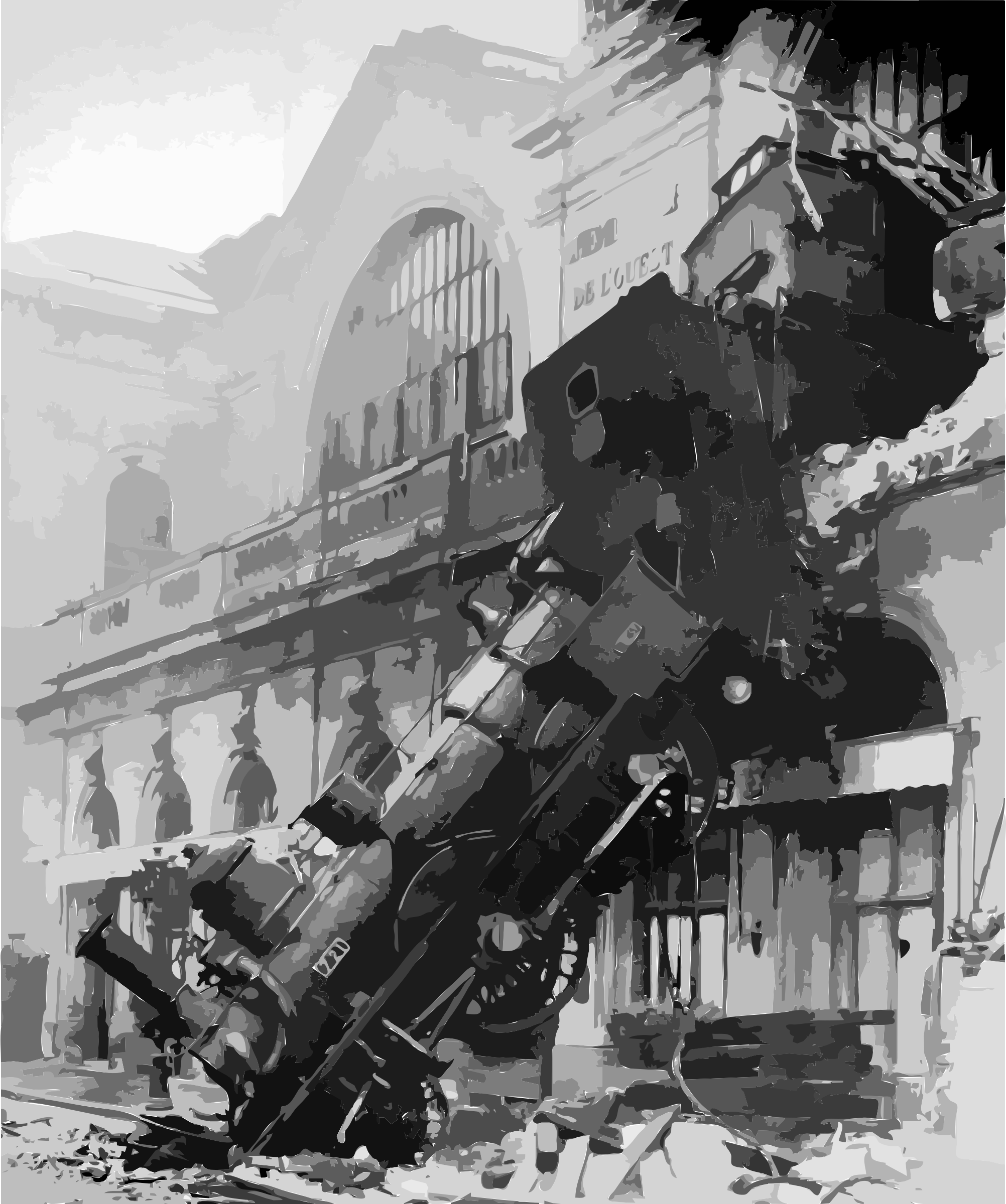 Train wreck at Montparnasse 1895 by 5n9sst+earkddiows40g