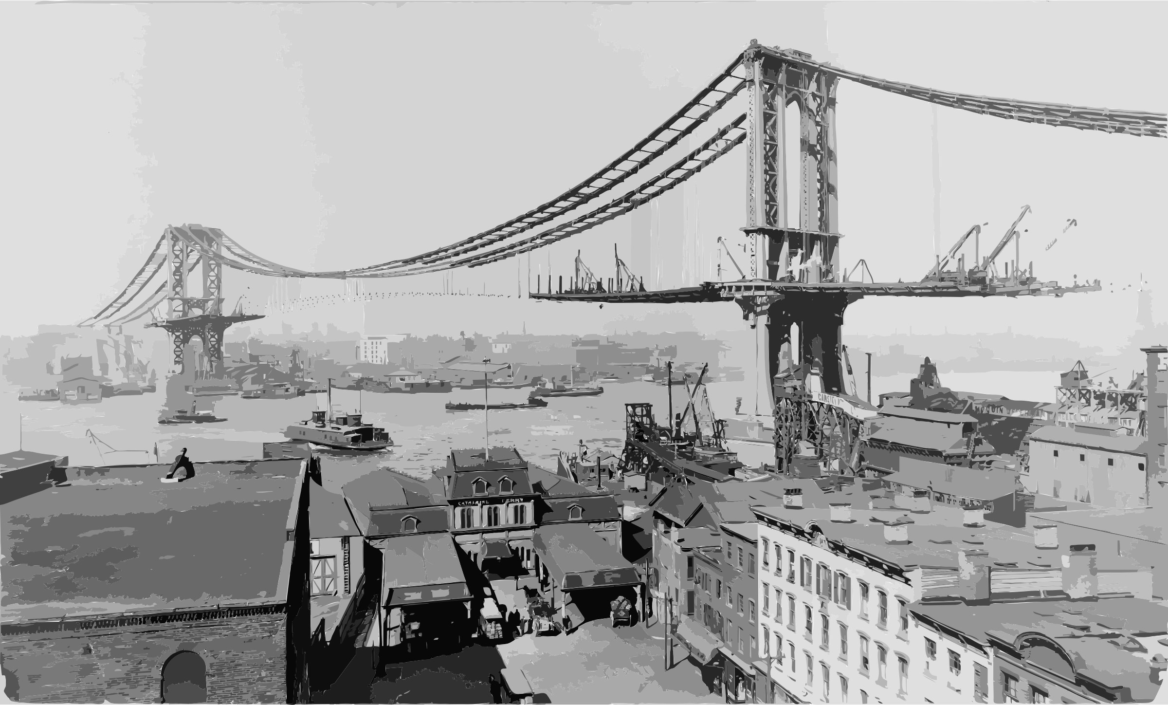 Manhattan Bridge Construction 1909 by 5nauj2+9nzynb3m7hk64