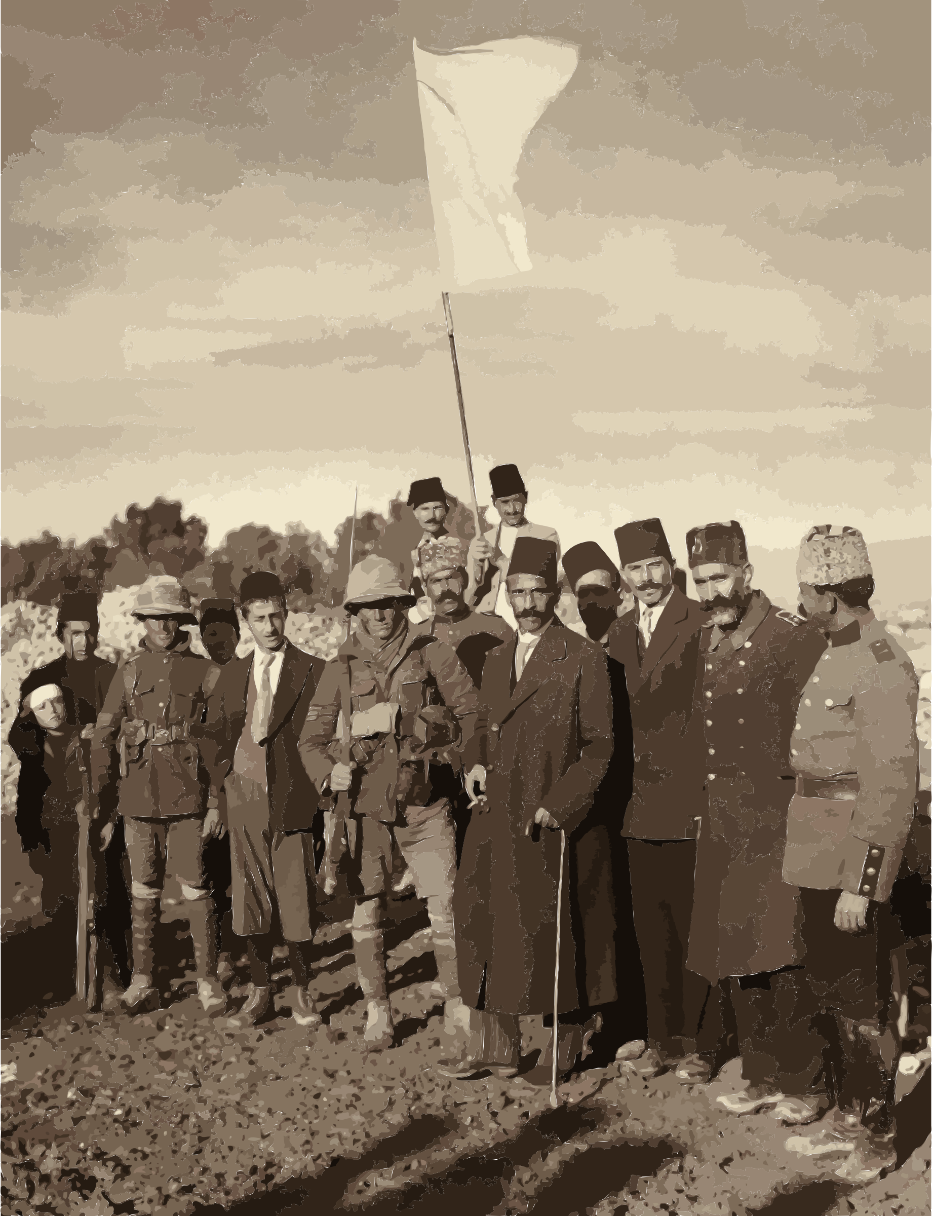 Ottoman surrender of Jerusalem restored by 5nbz3a+45jqtl07aorc