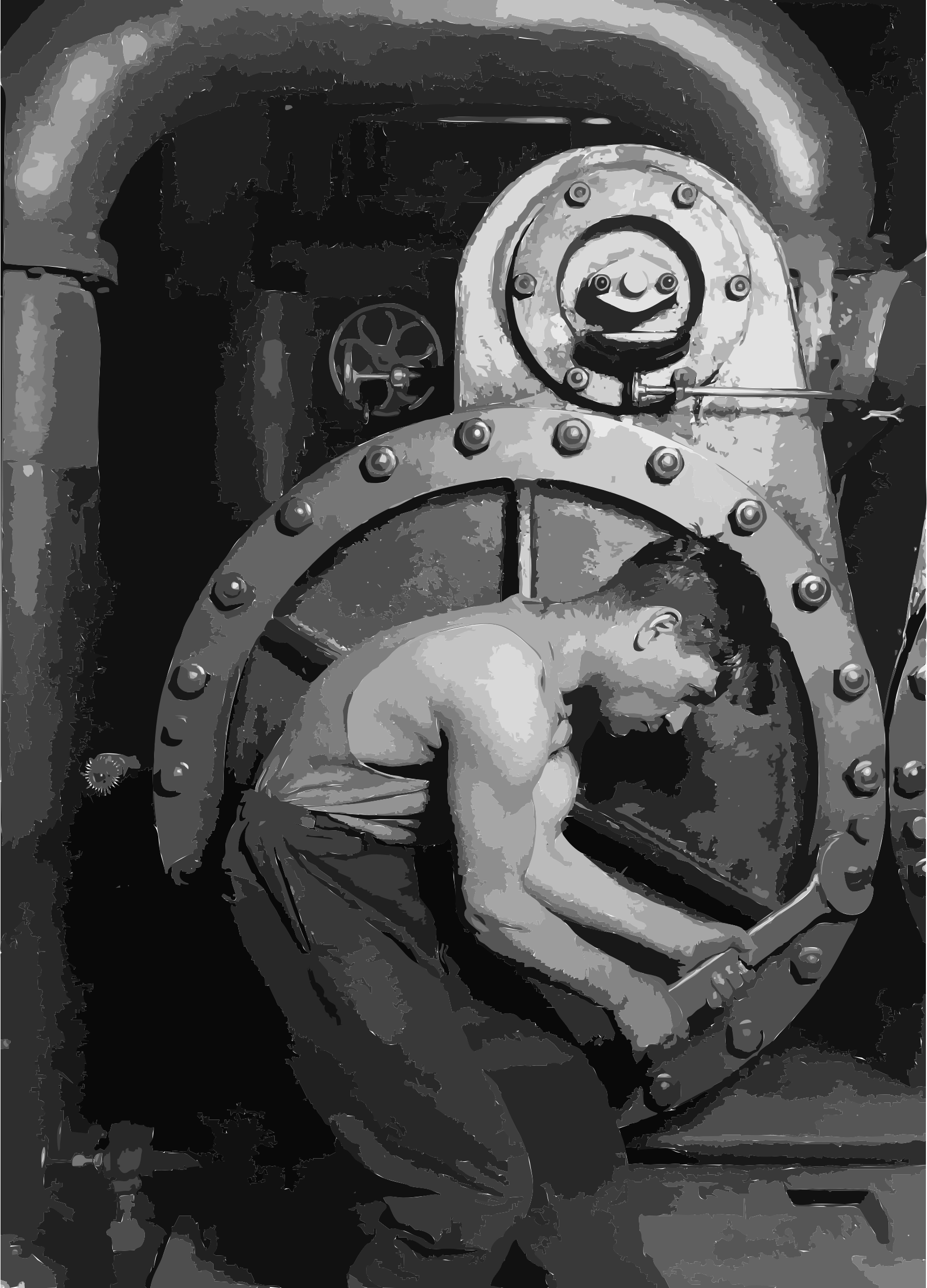 Lewis Hine Power house mechanic working on steam pump by 5nbz3a+45jqtl07aorc