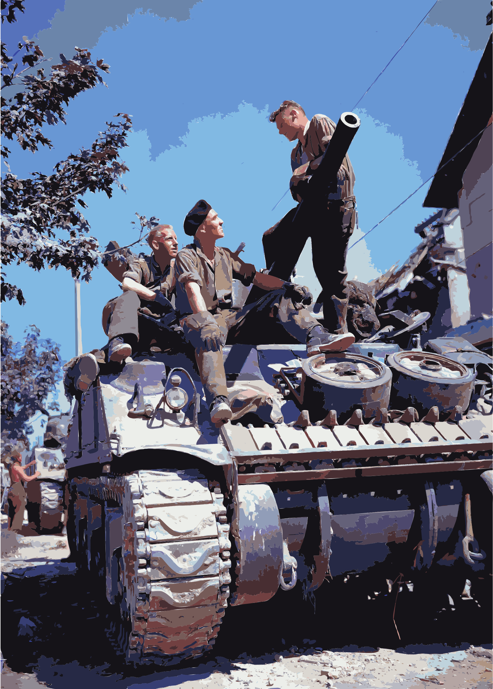 Crew of a Sherman-tank south of Vaucelles by 5nbz3a+45jqtl07aorc