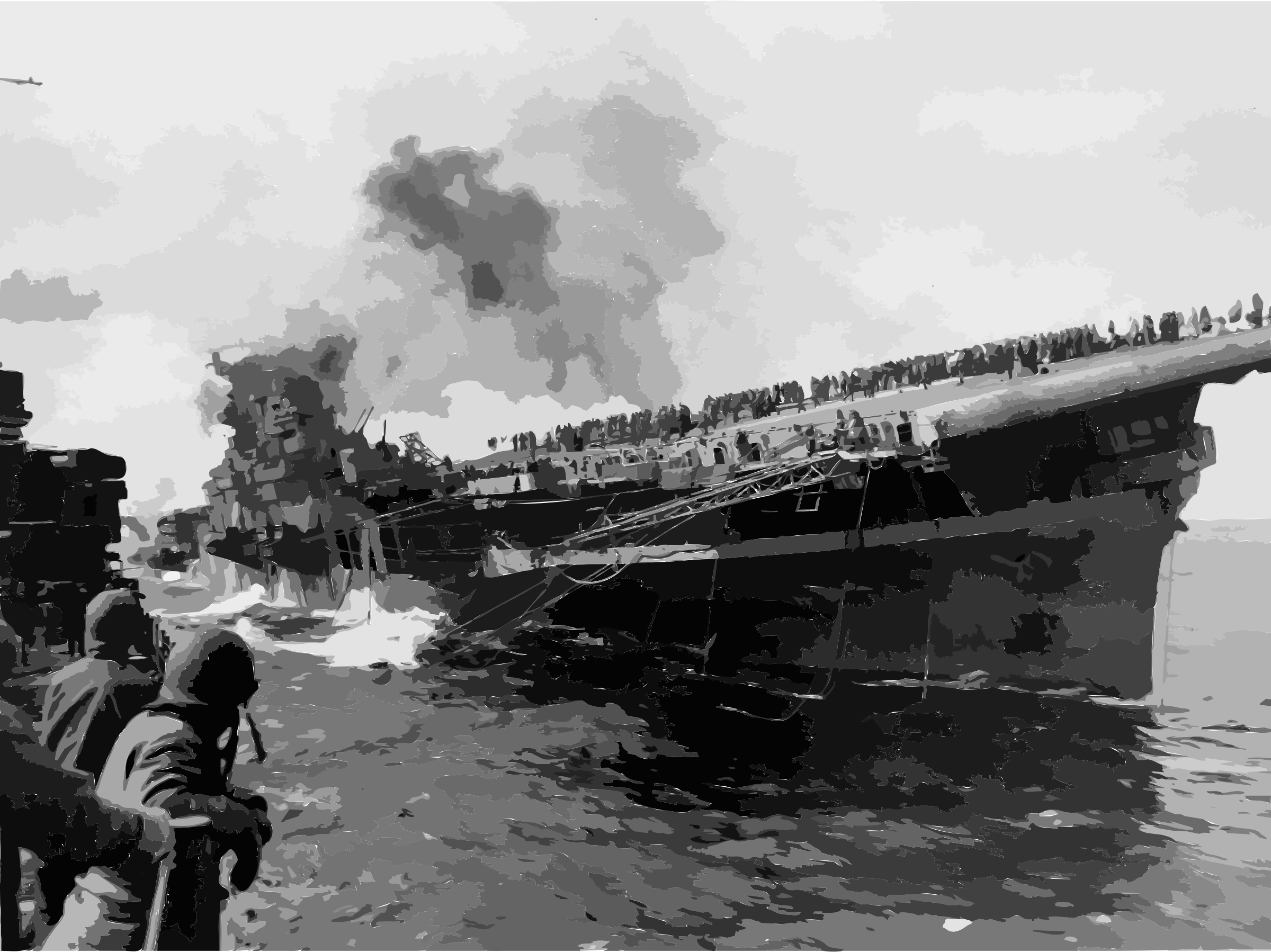 Attack on carrier USS Franklin 19 March 1945 by 5nbz3a+45jqtl07aorc