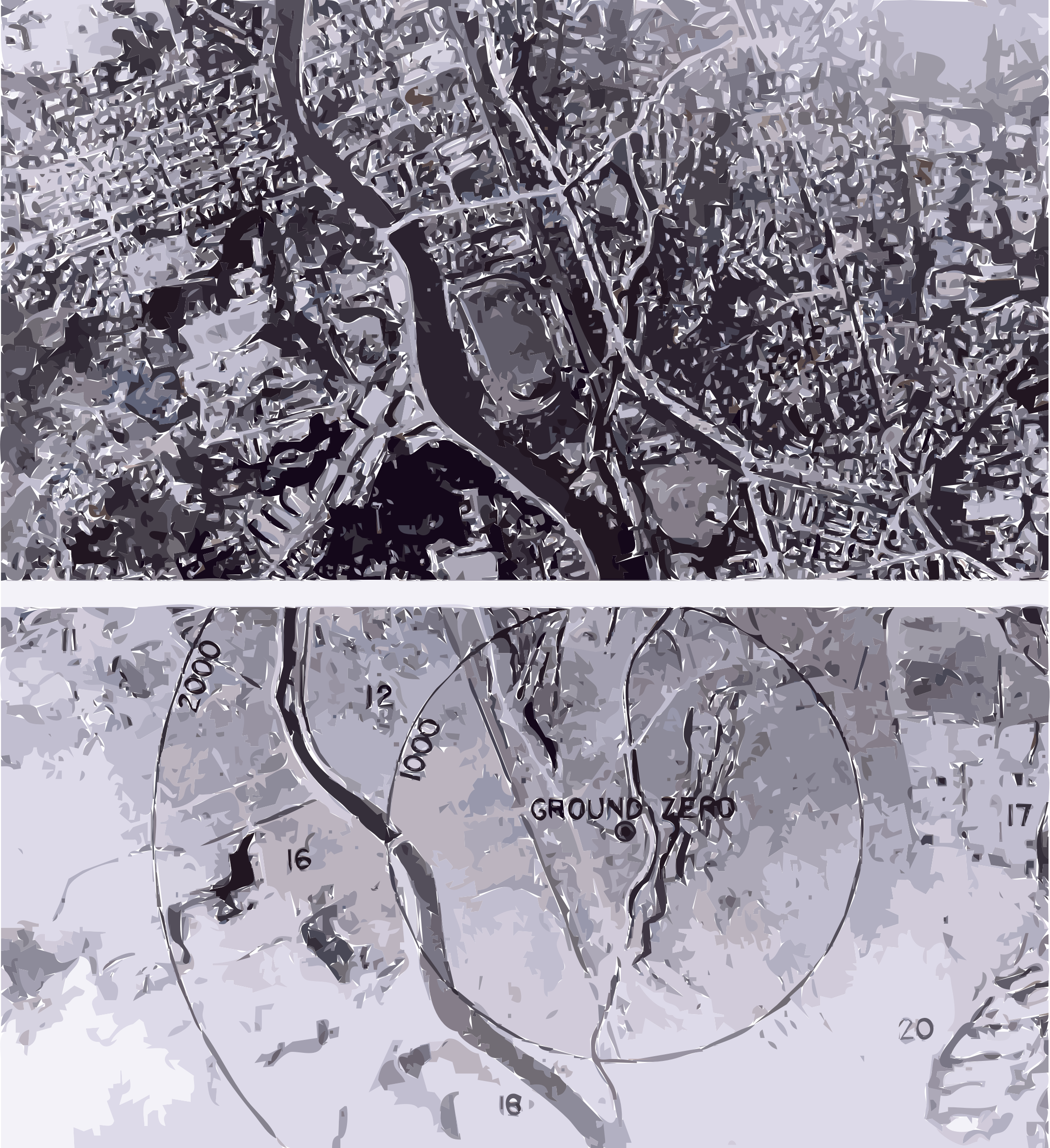 Nagasaki 1945 - Before and after (adjusted) by 5nbz3a+45jqtl07aorc