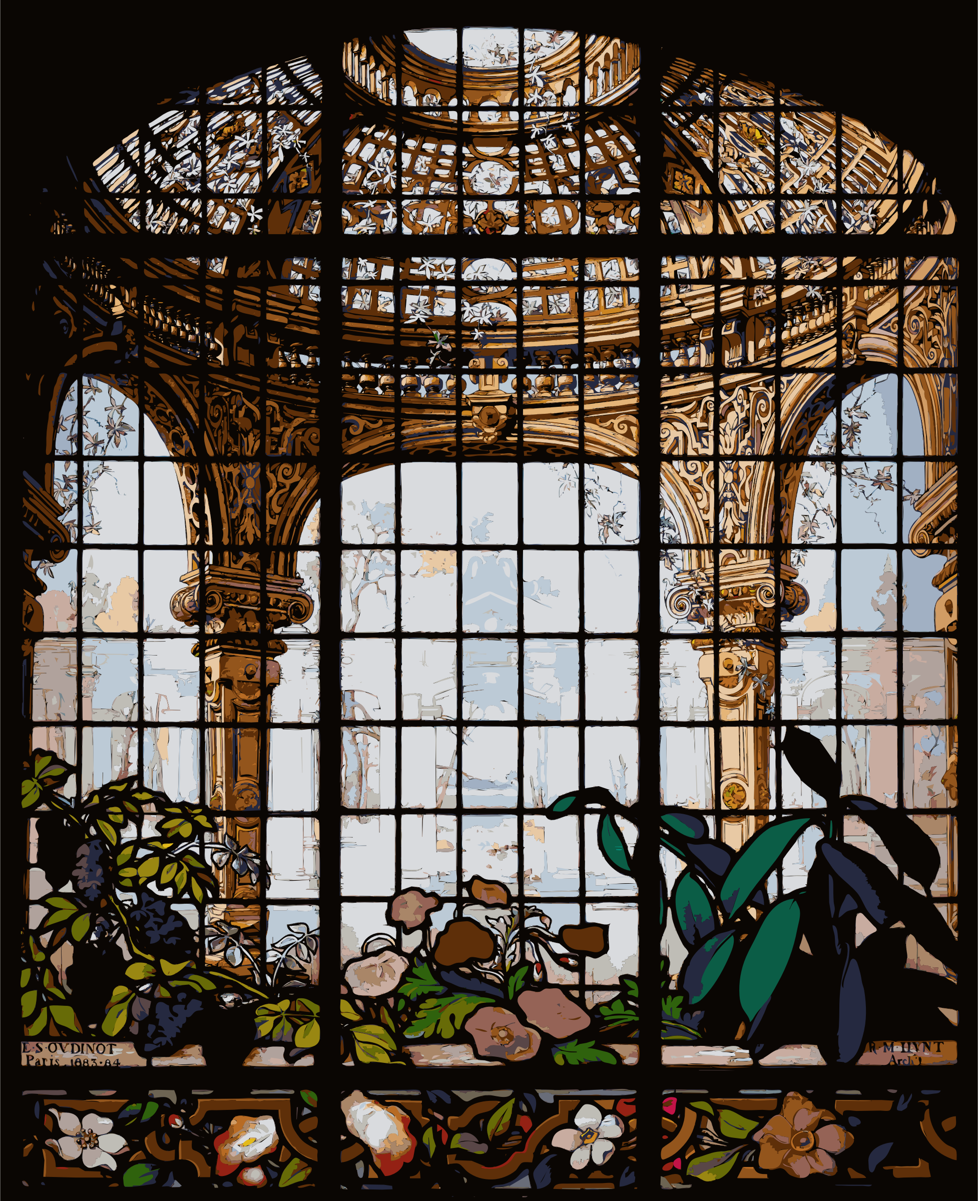 Henry G. Marquand House Conservatory Stained Glass Window by 5ncrcv+exryzbsq0bgao