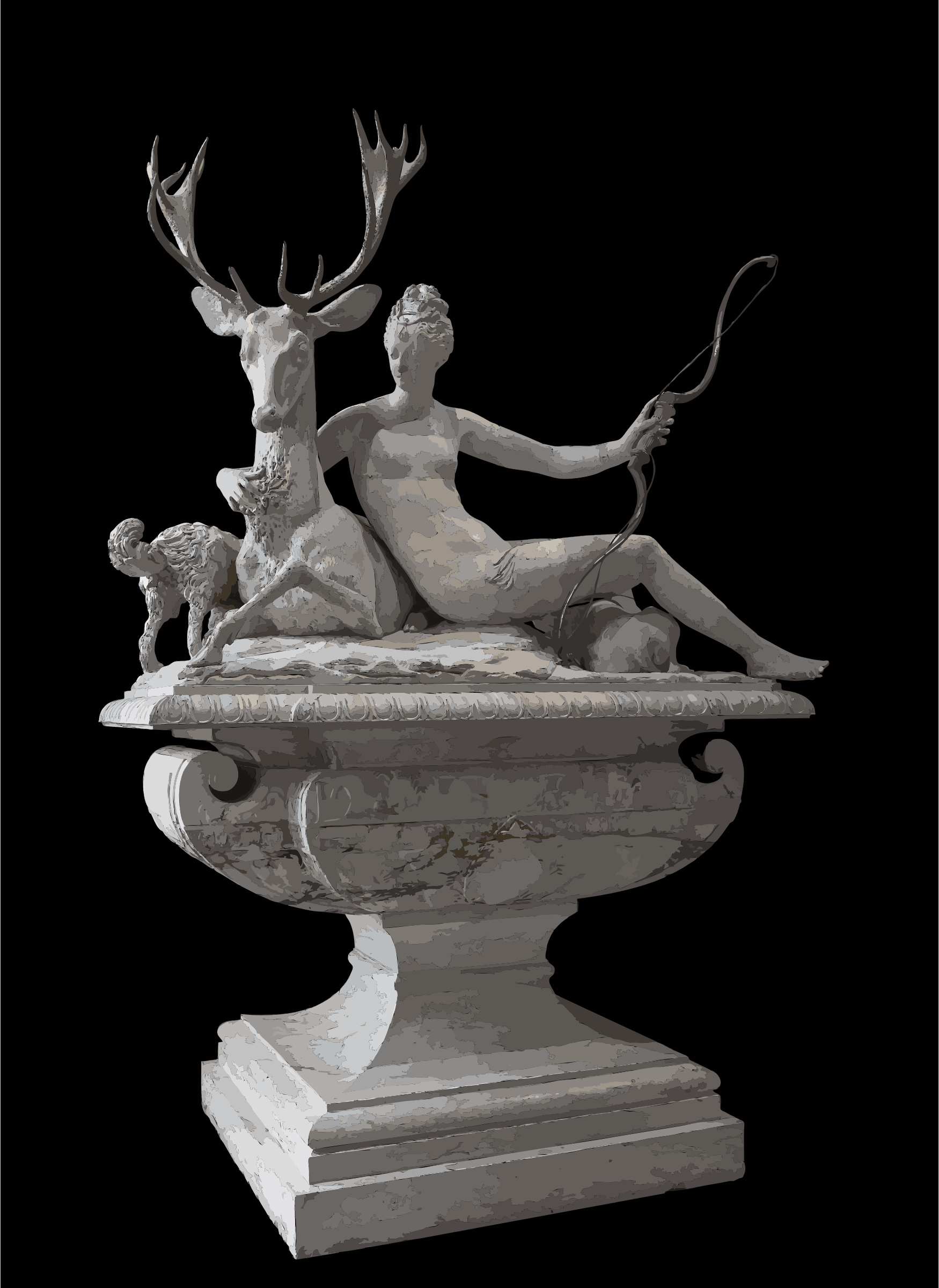Fontaine Diane Fountain Diana Anet Louvre MR 1581, MR sup 123 by 5ncrcv+exryzbsq0bgao