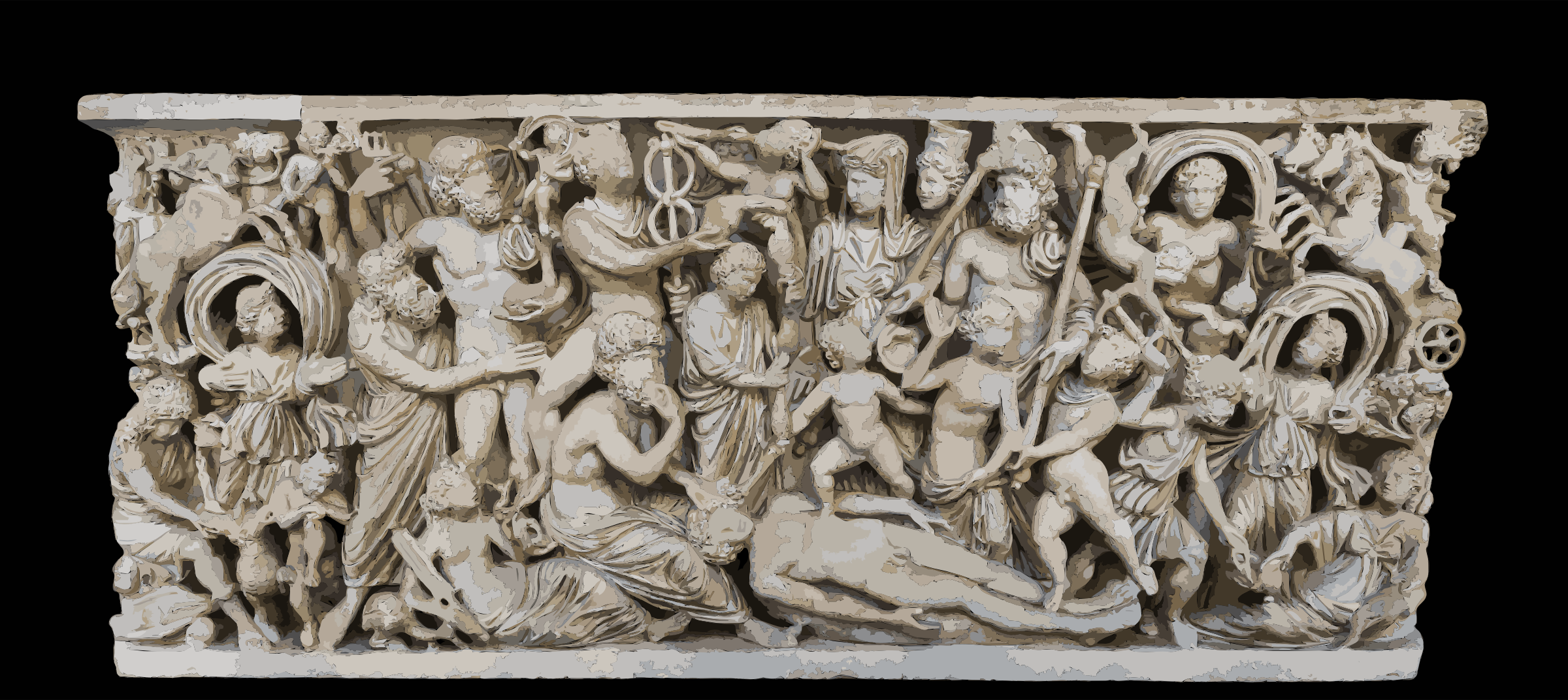 MANNapoli 6705 creation of the man sarcophagus by 5ncrcv+exryzbsq0bgao
