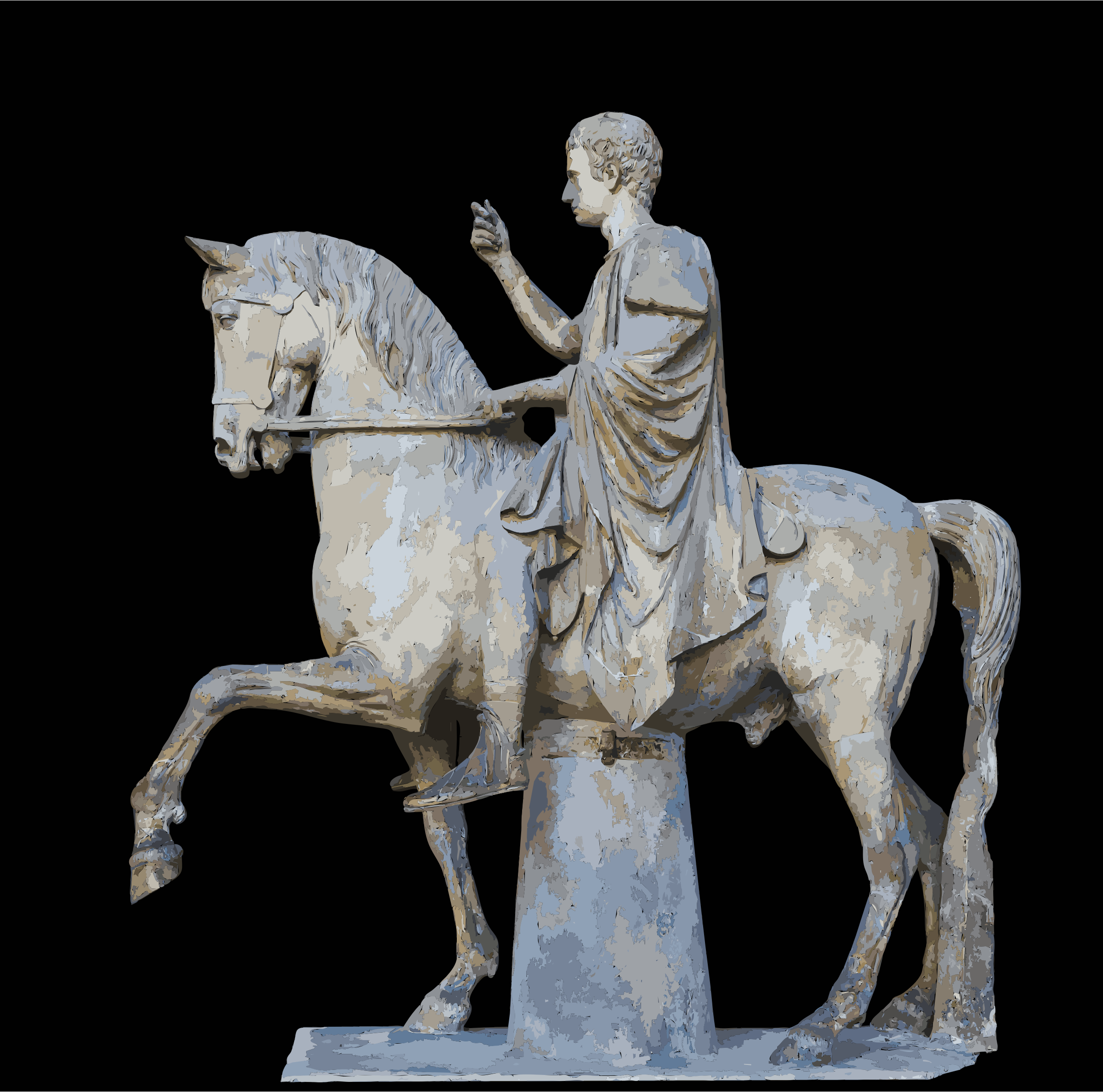 M.Nonius Balbus Nuceria equestrian Statue MANN by 5ned0l+2rizup9y4agd8
