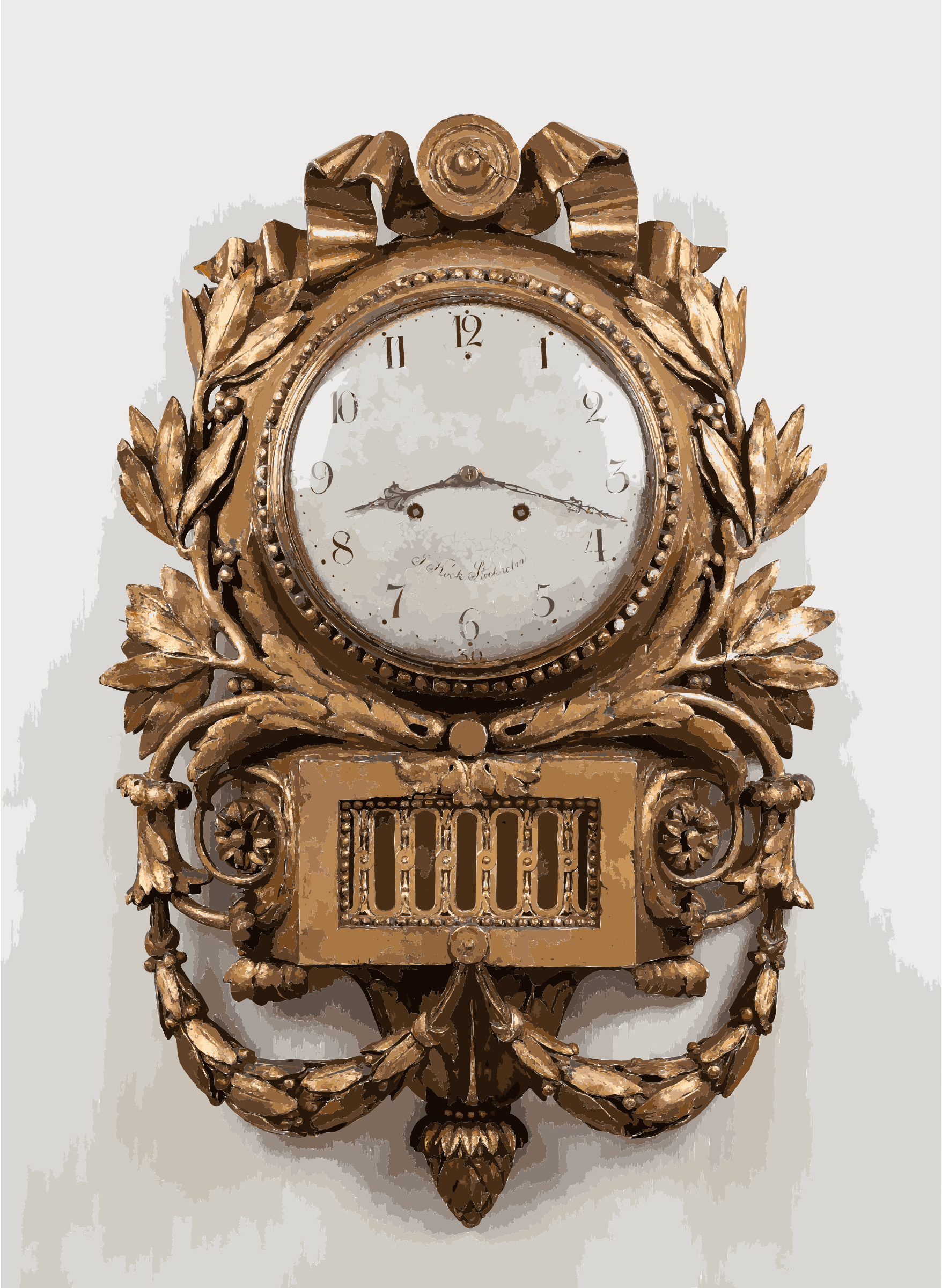 Pendulum clock by Jacob Kock, antique furniture photography, IMG 0931 edit by 5ned0l+2rizup9y4agd8