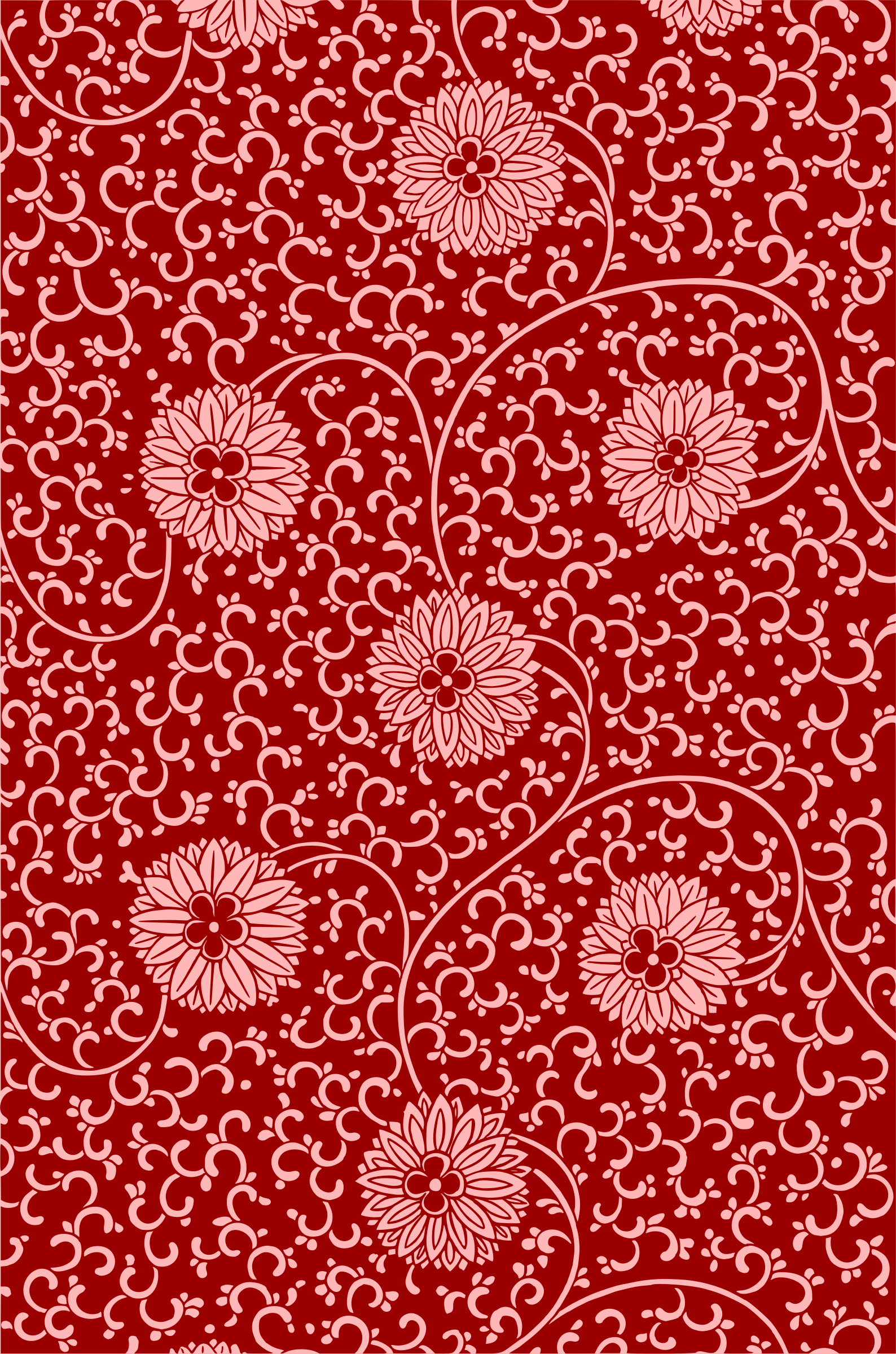 Floral pattern 2 (colour) by Firkin