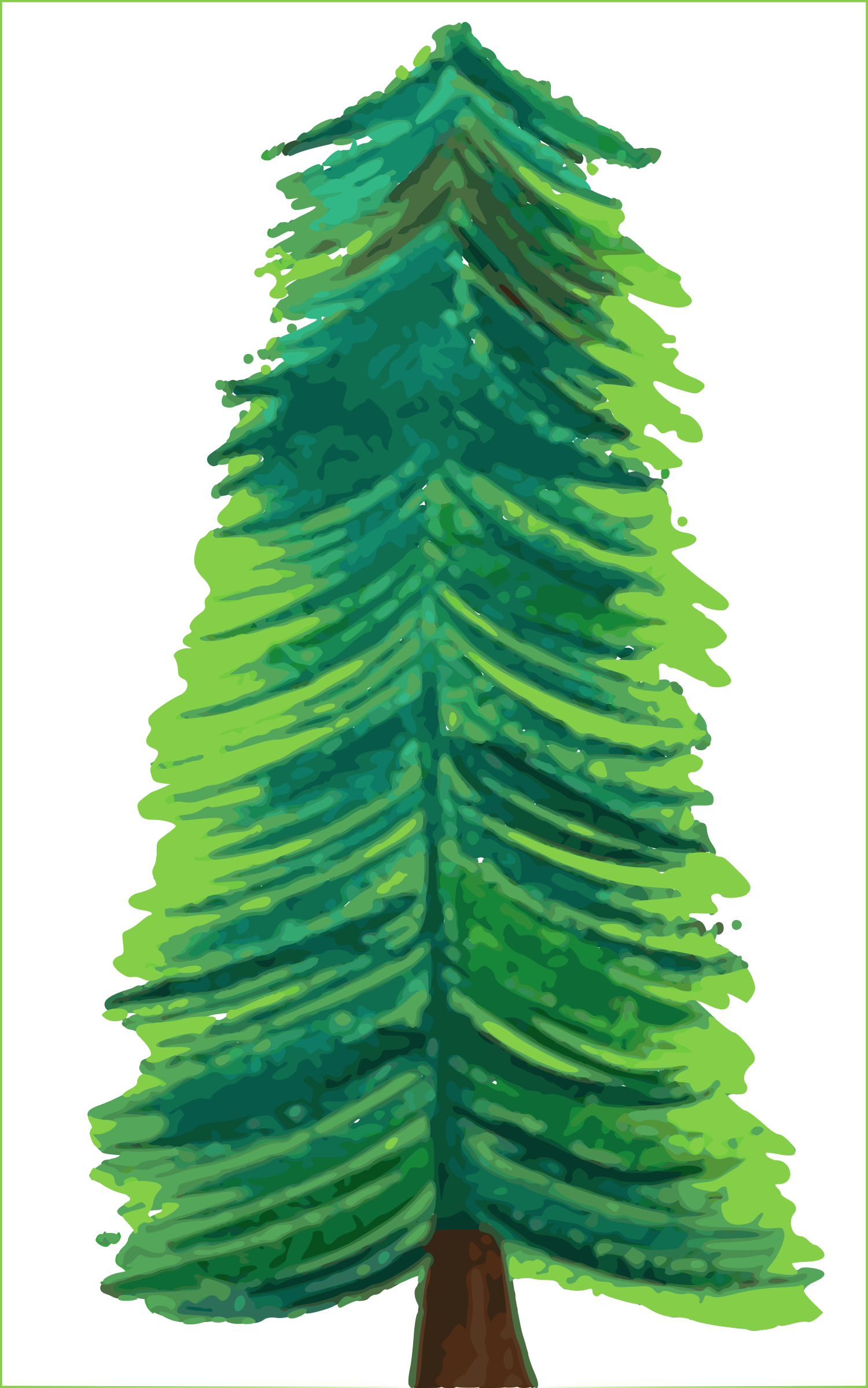 Transparent Background Christmas Tree COLOR by kdog5454