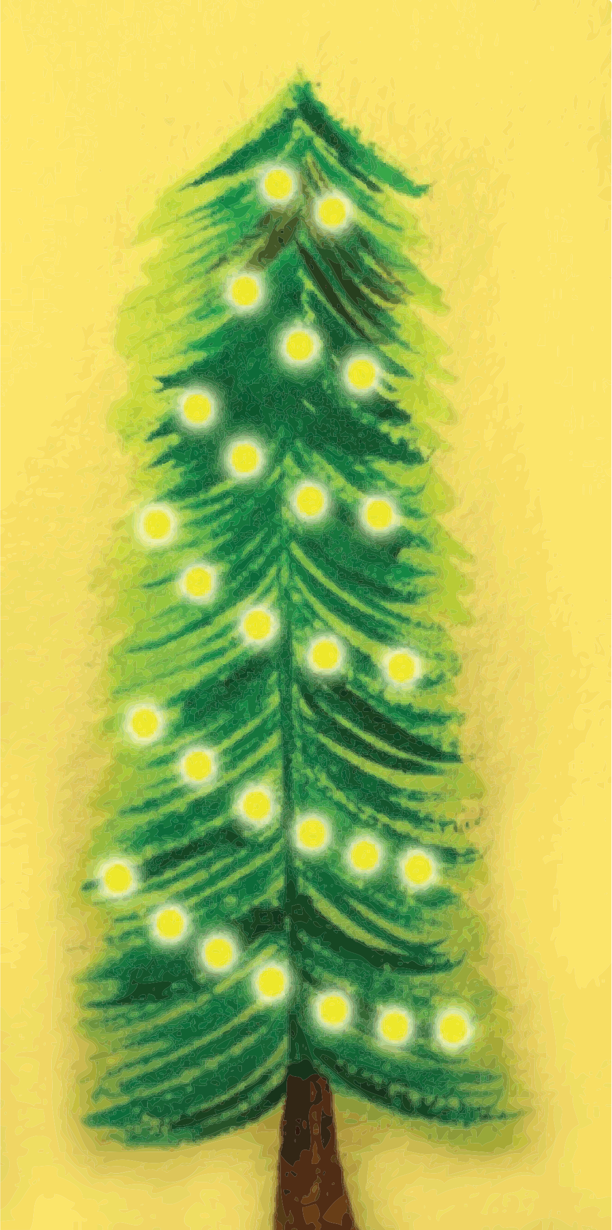 Remixed Christmas Tree Illuminated, traced. by oldifluff