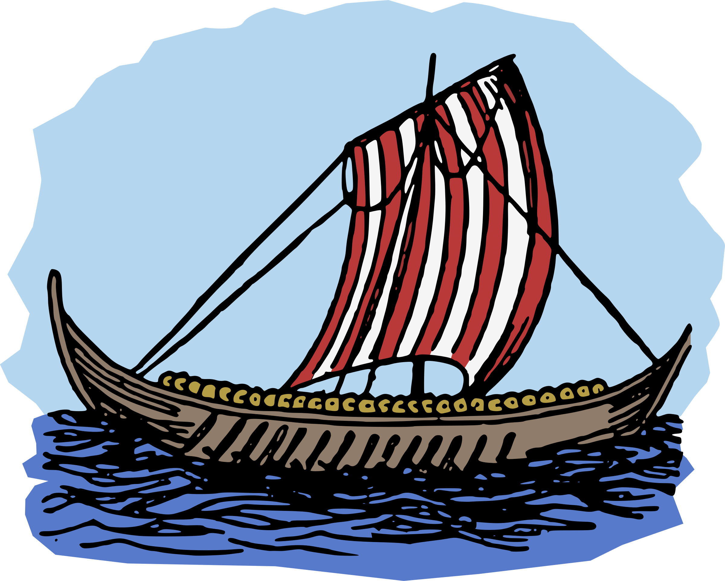 Viking Boat - Colour by j4p4n