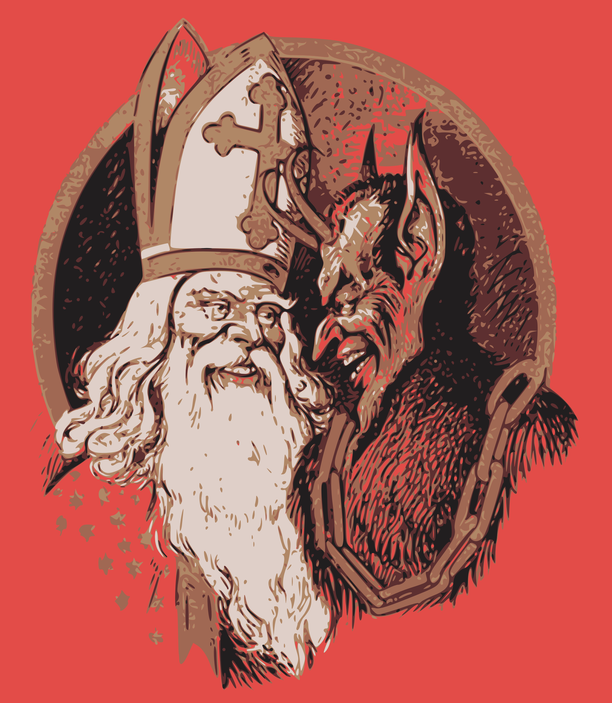 Nikolaus and Krampus by j4p4n