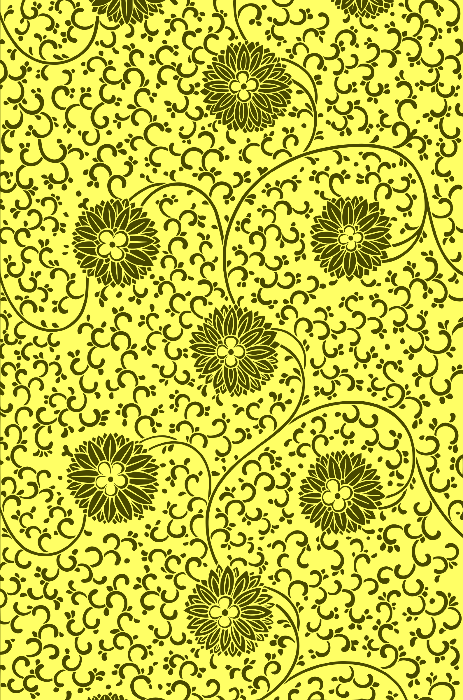 Floral pattern 2 (colour 4) by Firkin
