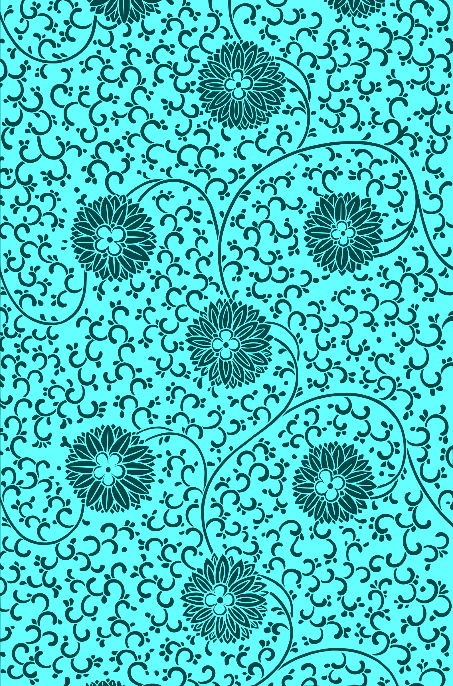Floral pattern 2 (colour 5) by Firkin