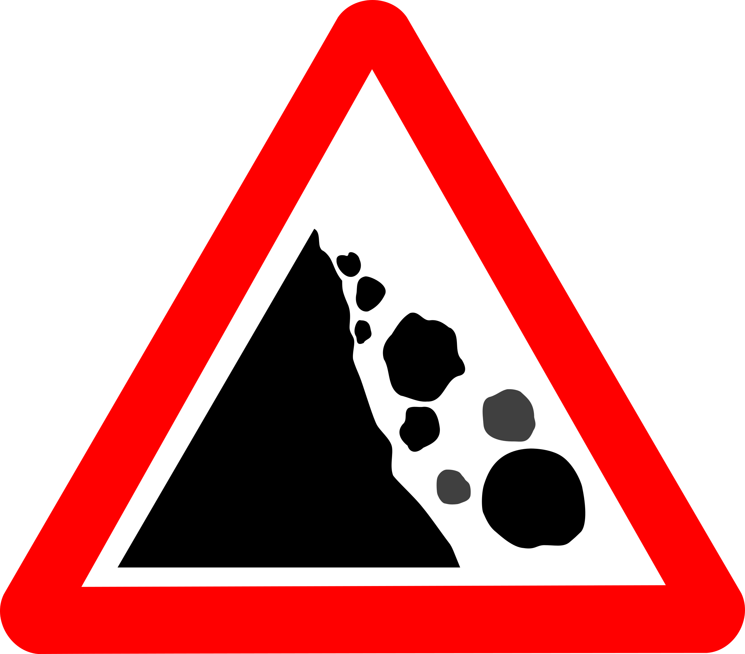 Roadsign Falling rocks by Simarilius