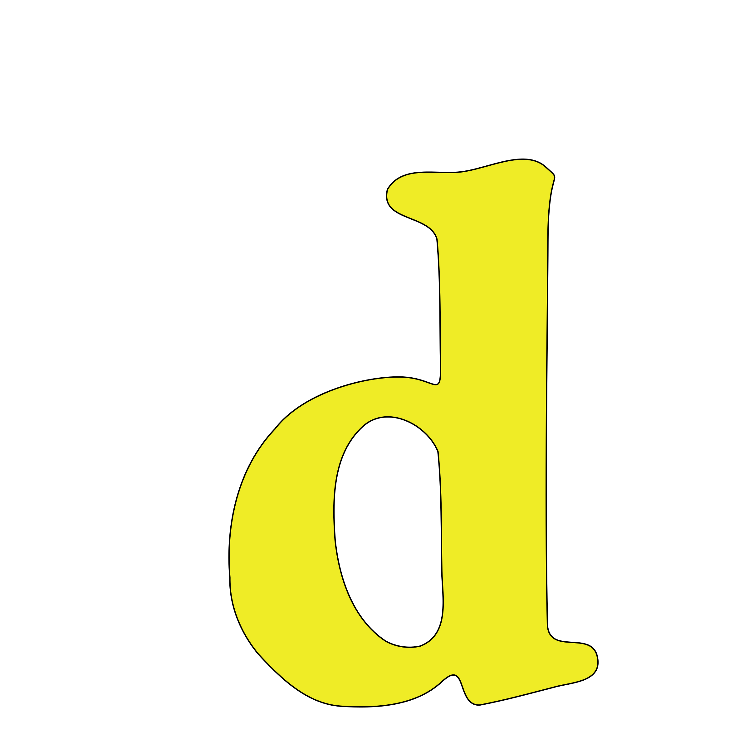 lowercase d by tuamora